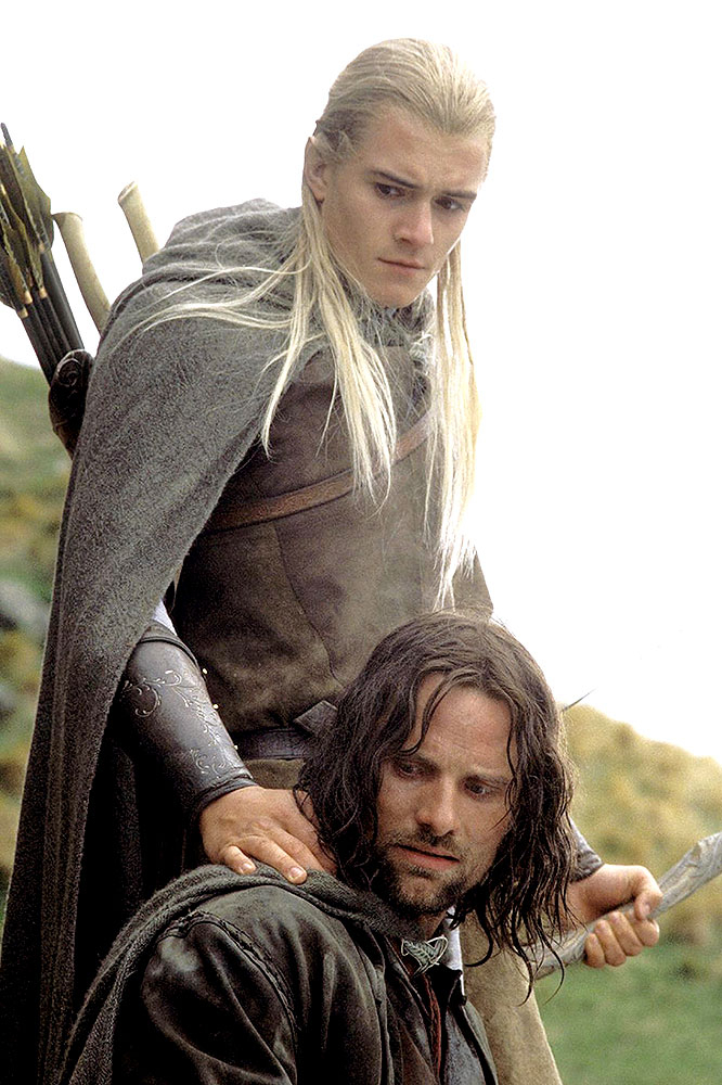 Orlando Bloom and Viggo Mortensen in Lord of the Rings: Return of the King
