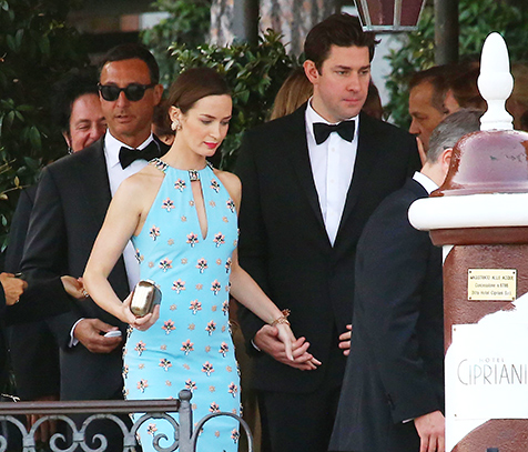 John Krasinski Emily Blunt Wedding.George Clooney S Wedding Emily Blunt Matt Damon Bill