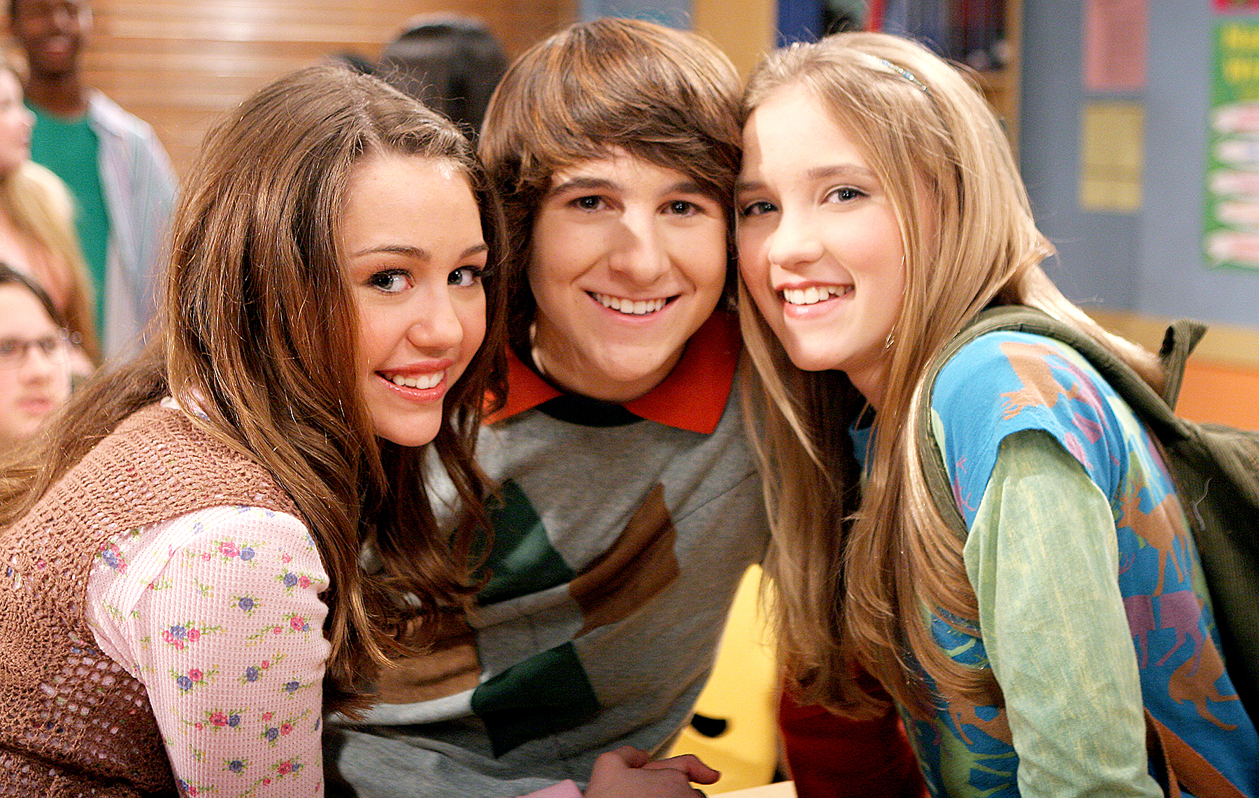 Miley Cyrus, Mitchel Musso, and Emily Osment on Hannah Montana