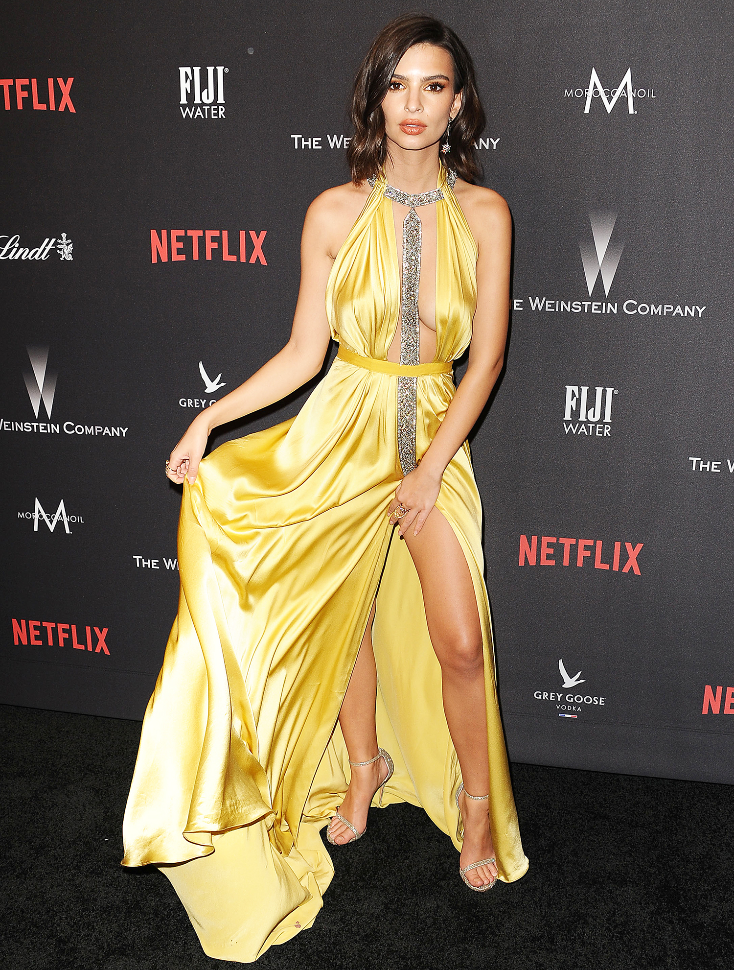 Emily Ratajkowski attends the 2017 Weinstein Company and Netflix Golden Globes after party on January 8, 2017 in Los Angeles, California.