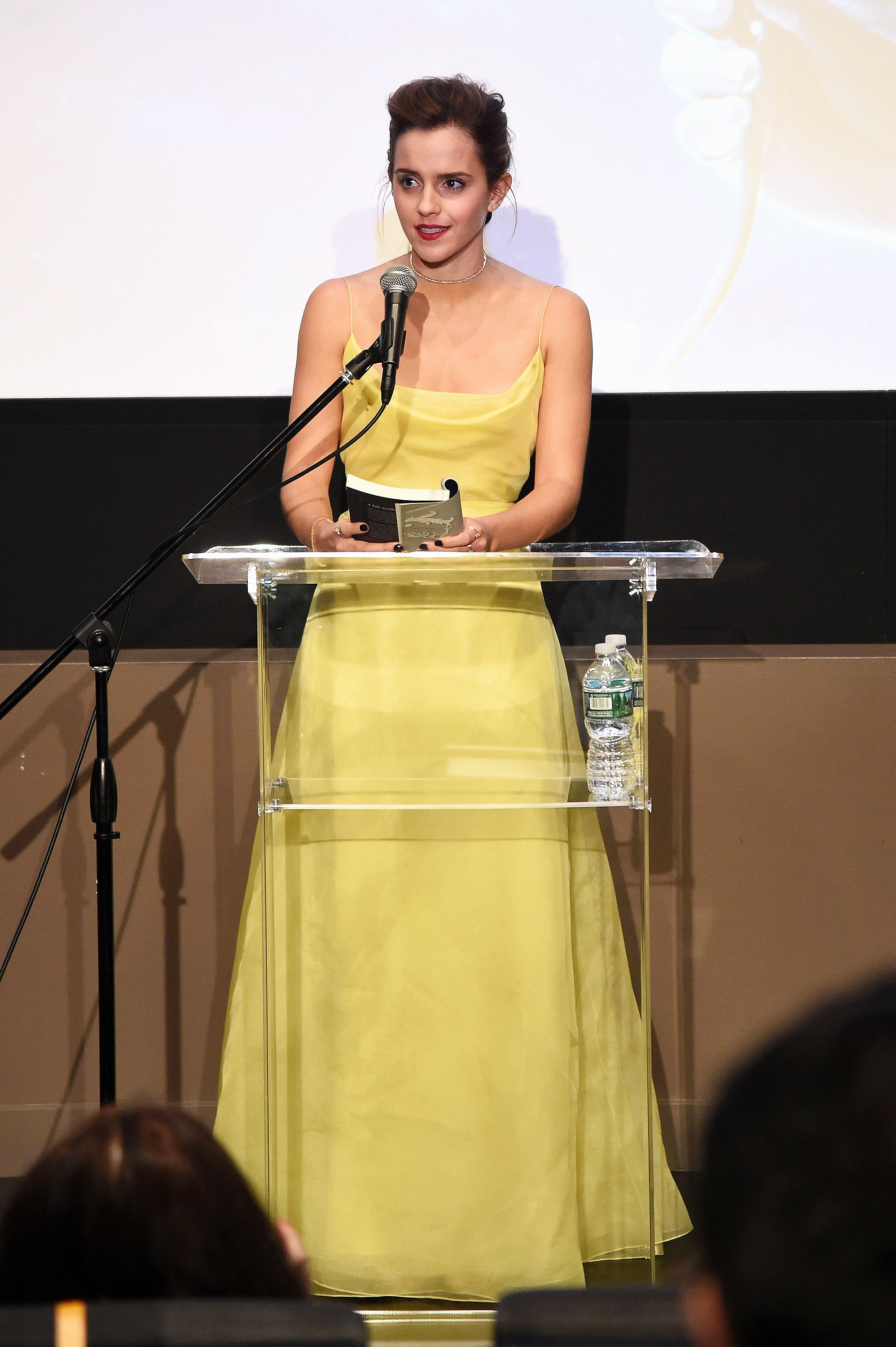 Beauty And The Beast Star Emma Watson Channeled Belle In A Yellow Gown At Special Event With New York Film Society For Kids On Monday March 13