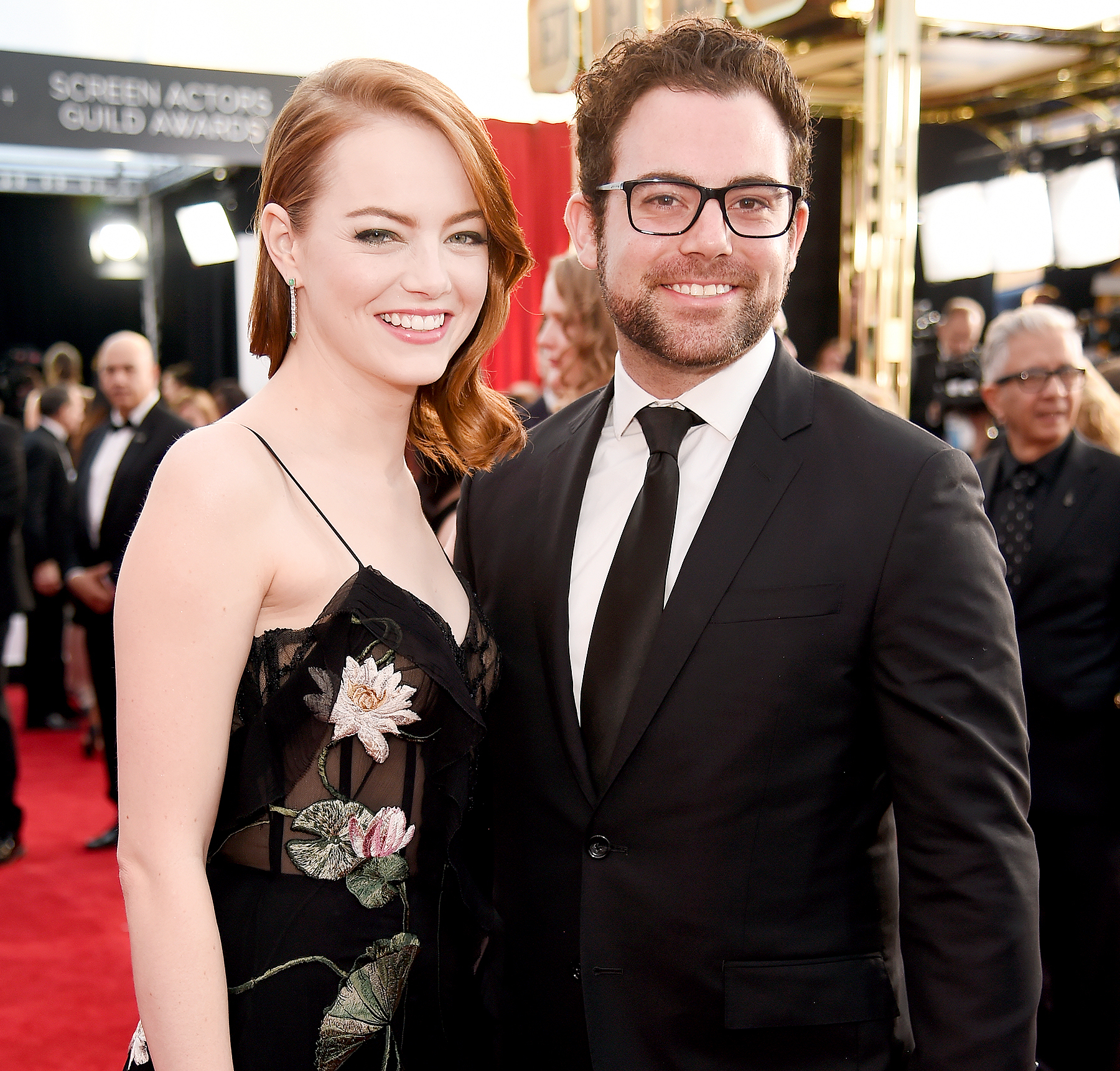 Emma Stone and Spencer Stone attend The 23rd Annual Screen Actors Guild Awards.