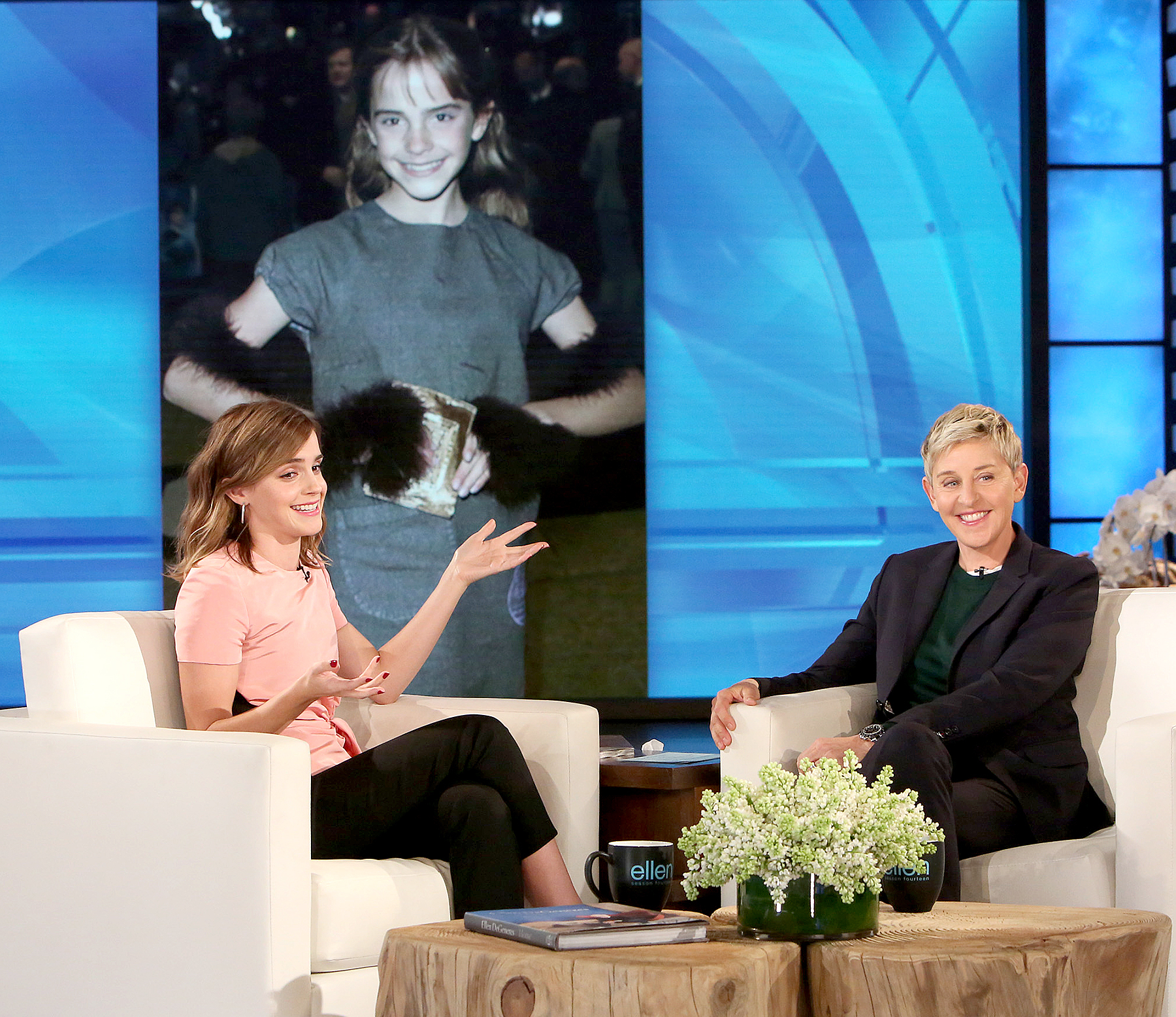 Emma Watson and Ellen DeGeneres
