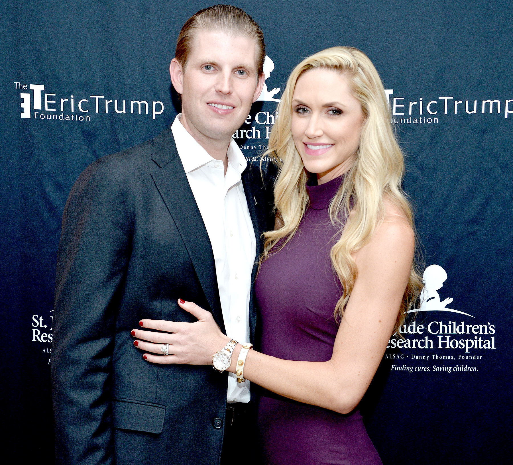 Eric Trump and Lara Trump attend the 9th Annual Eric Trump Foundation Golf Invitational Auction & Dinner at Trump National Golf Club Westchester on September 21, 2015 in Briarcliff Manor, New York.