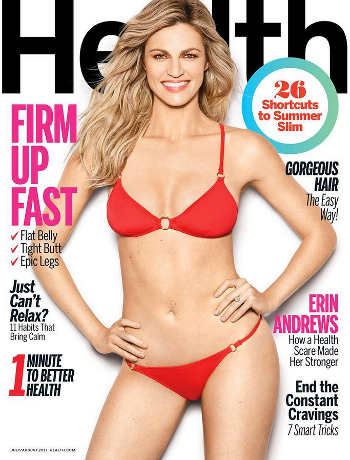 Erin Andrews on the cover of Health Magazine