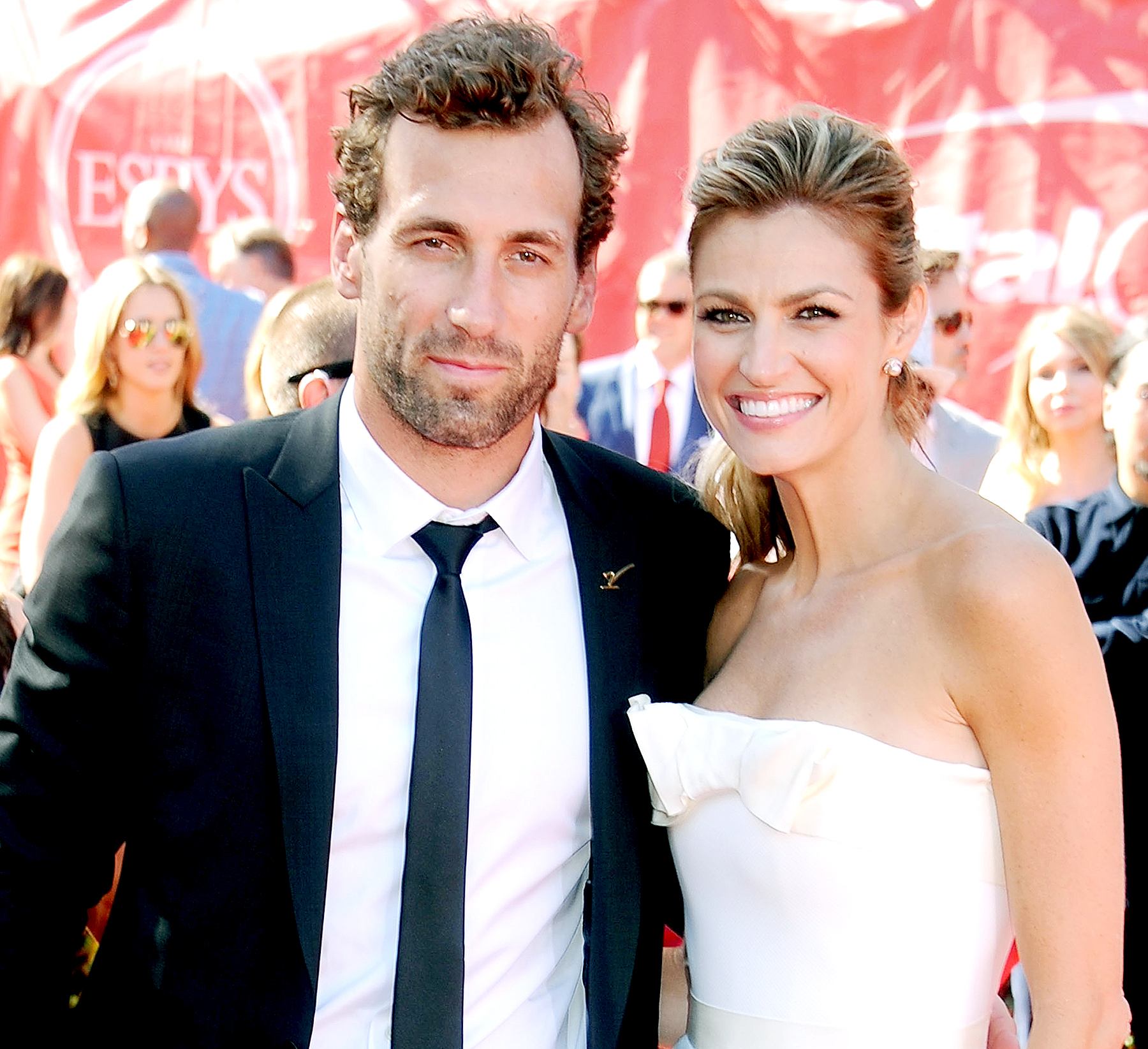Erin Andrews and Jarret Stoll arrive at the 2014 ESPY Awards at Nokia Theatre L.A. Live on July 16, 2014 in Los Angeles, California.