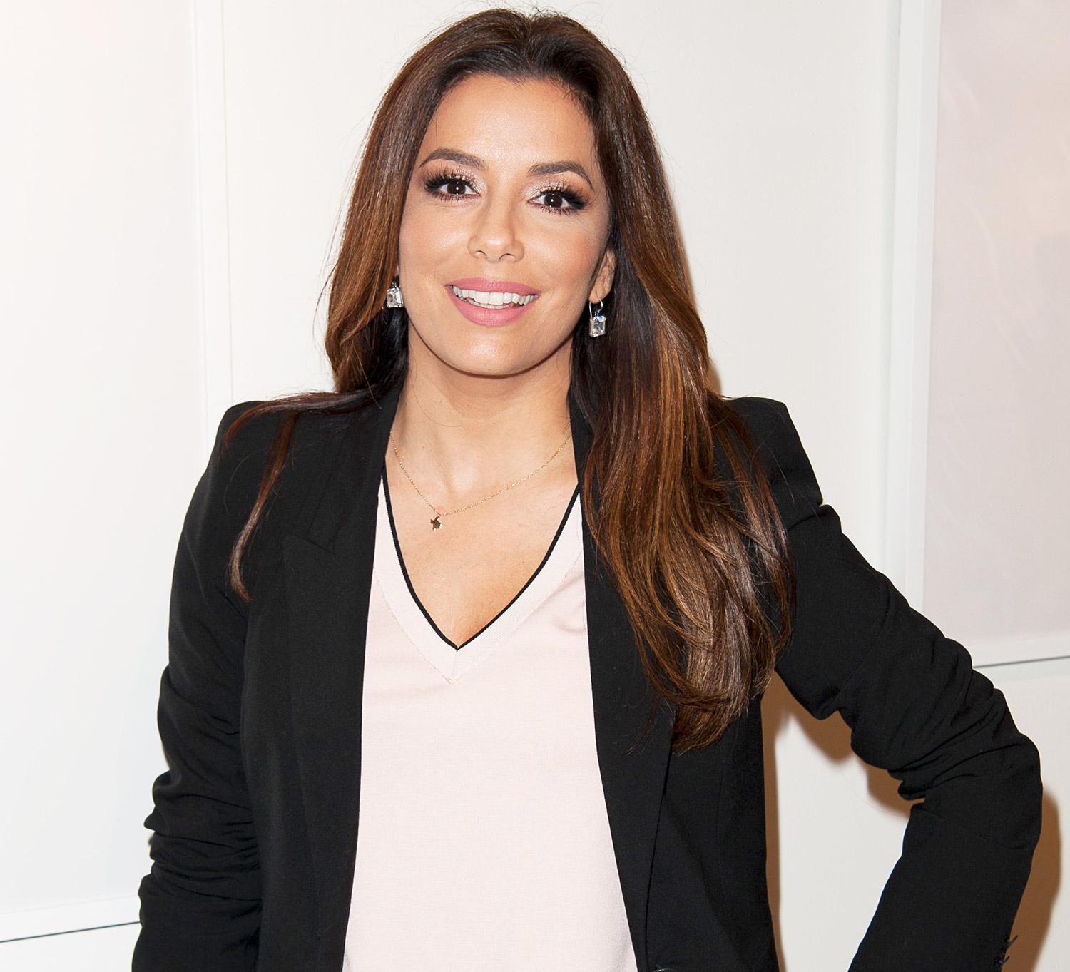 42-year-old Eva Longoria was wearing a sexy black suit for a photo shoot 02.08.2017 80