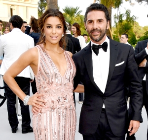 Eva Longoria and Jose Baston attend the amfAR Gala at Hotel du Cap-Eden-Roc in Cap d'Antibes, France, on May 25, 2017.