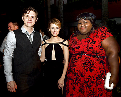 Evan Peters, Emma Roberts and Gabourey Sidibe