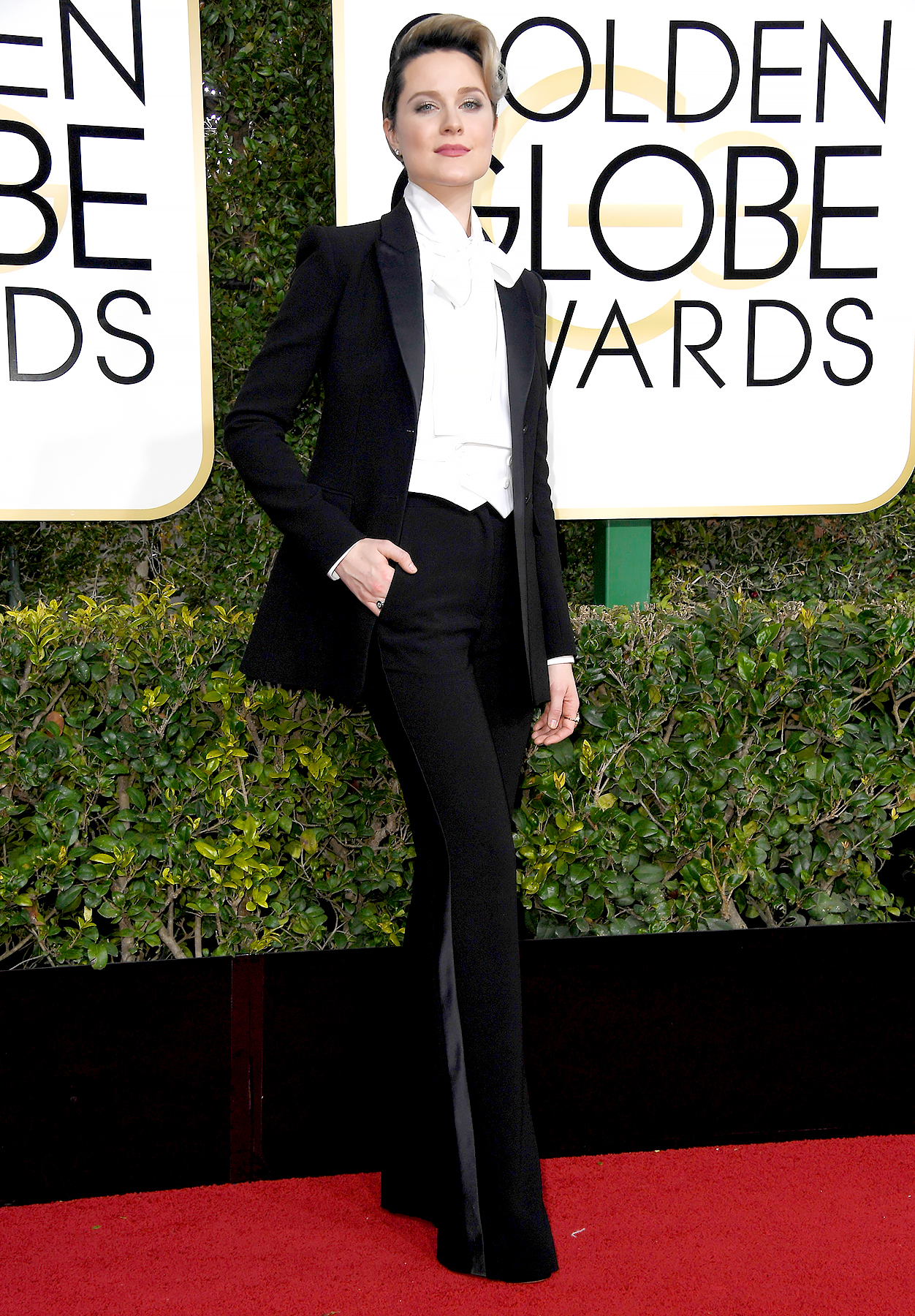 Evan Rachel Wood arrives to the 74th Annual Golden Globe Awards held at the Beverly Hilton Hotel on January 8, 2017.