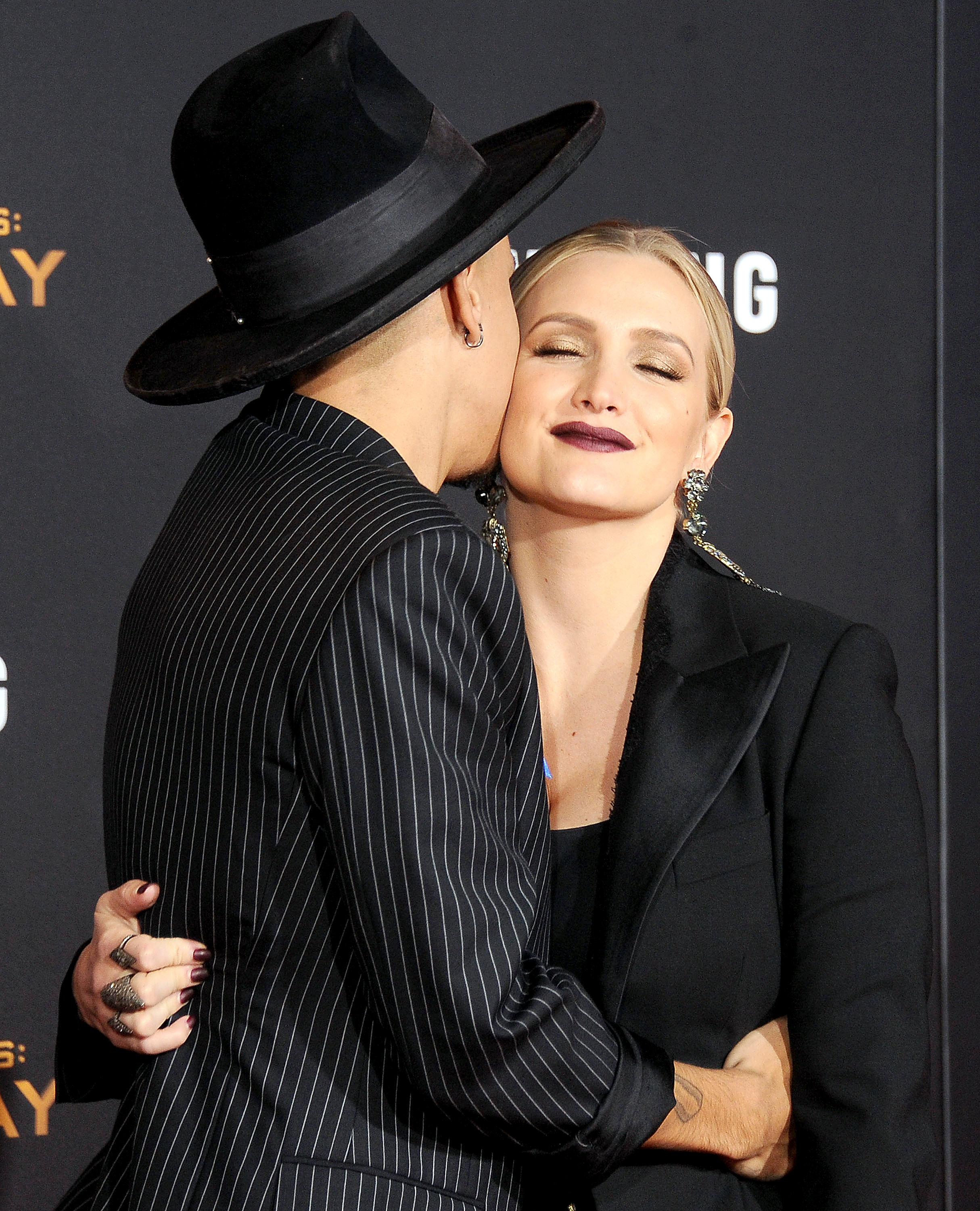 Ashlee Simpson and Evan Ross arrive at the premiere of Lionsgate's