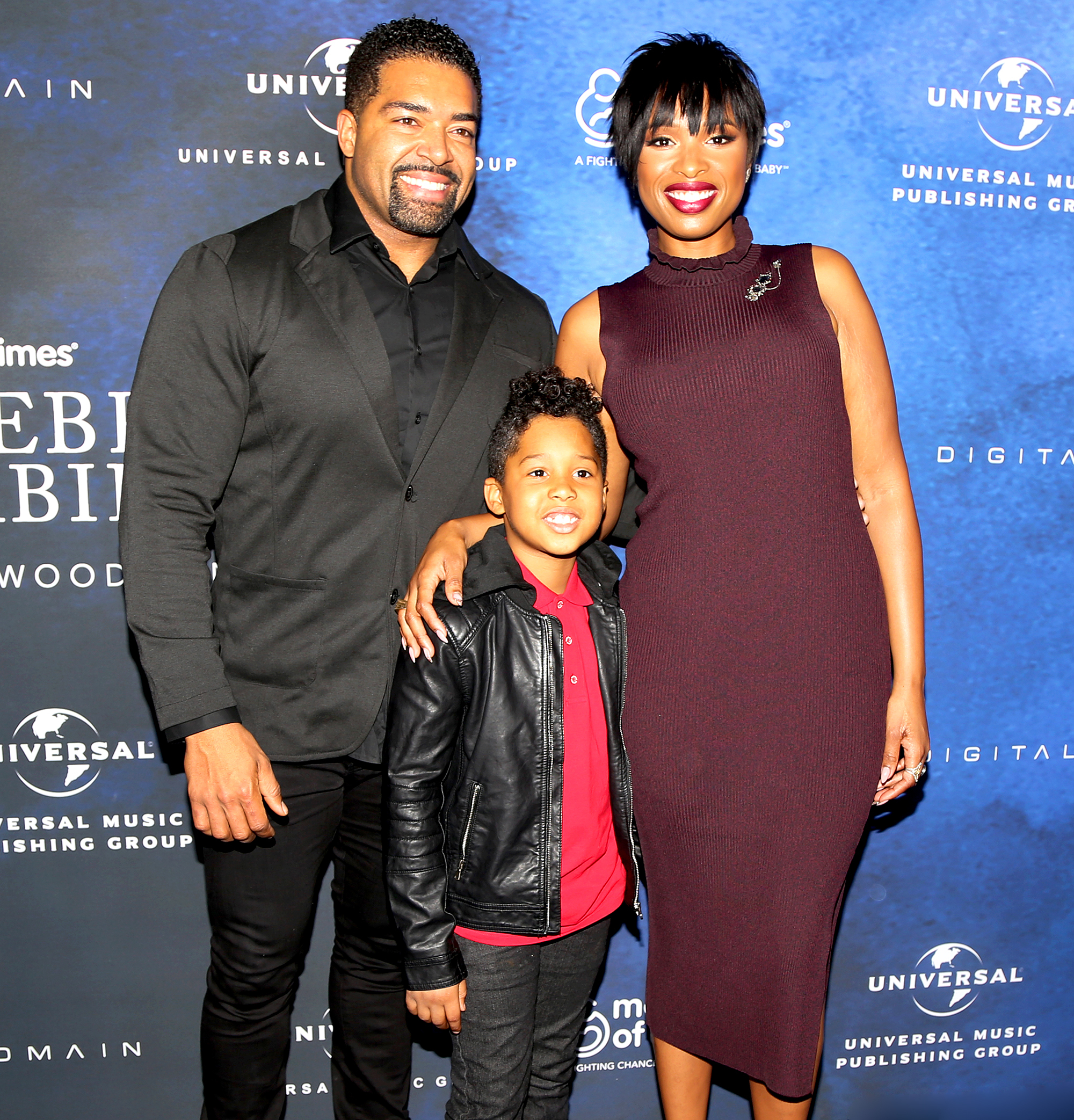 Jennifer Hudson and David Otunga and David Daniel Jr.