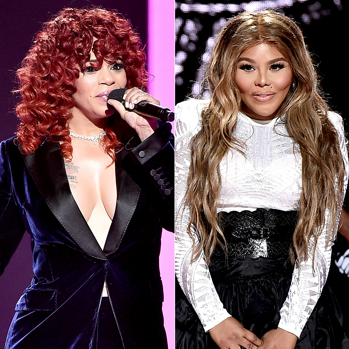 Faith Evans and Lil Kim at VH1 Hip Hop Honors