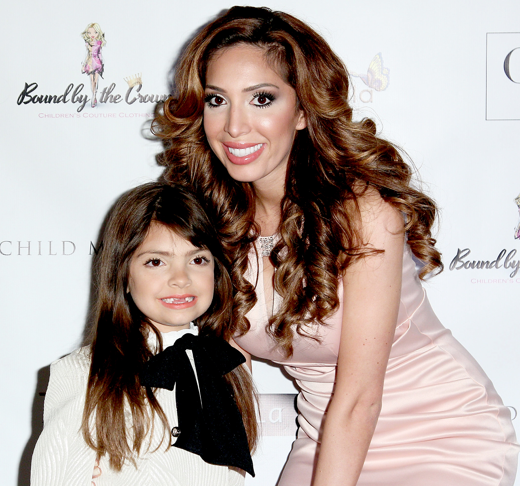 Farrah Abraham and her daughter Sophia Abraham attend Michelle Ann Kids + Bound By the Crown Couture Children's Wear - Fall 2016 New York Fashion Week at Affinia Hotel on February 13, 2016 in New York City.