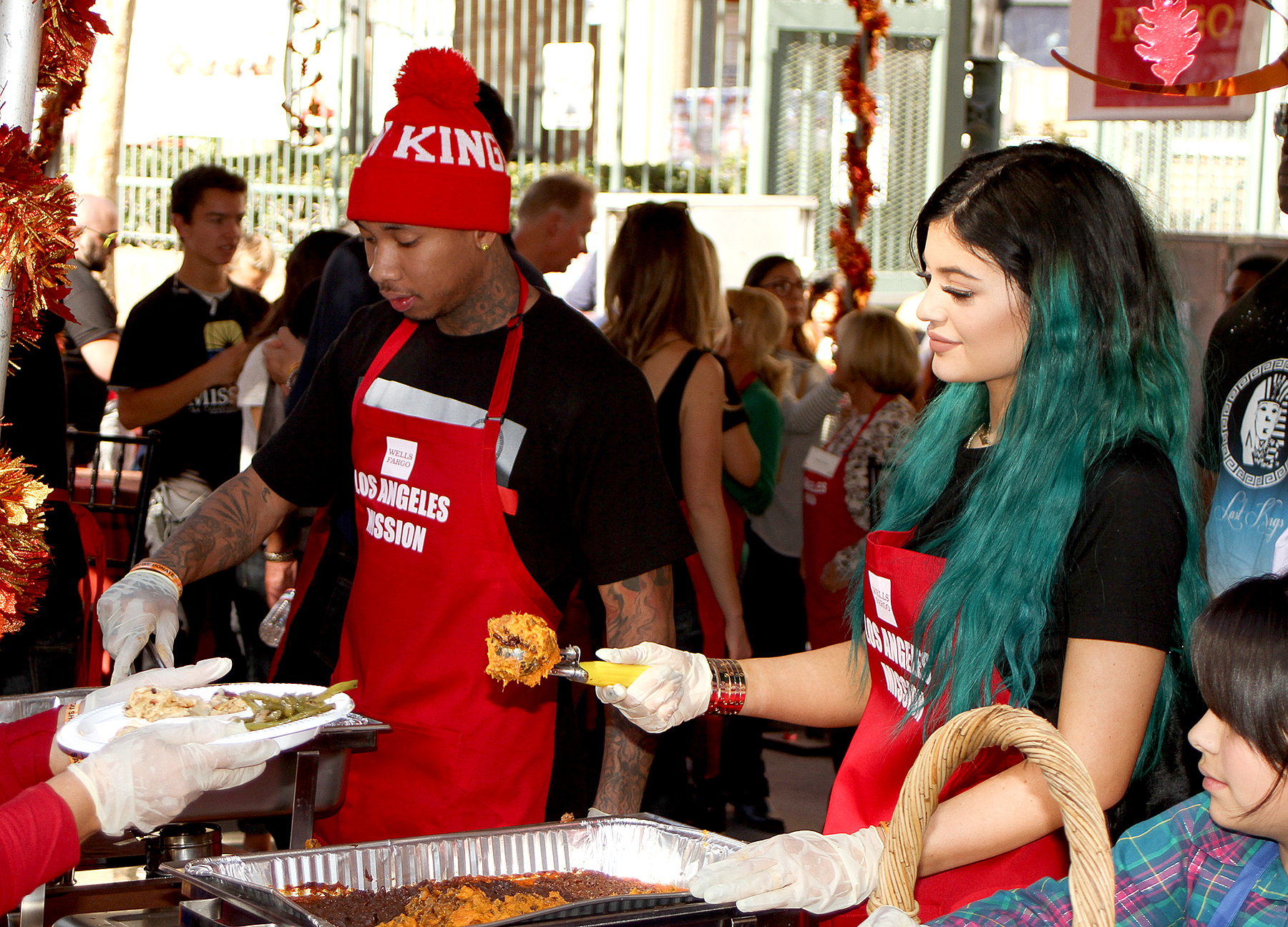 Tyga and Kylie Jenner on November 26.