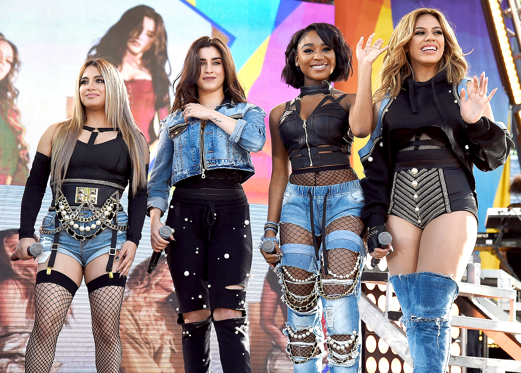 "Fifth Harmony performs on ABC's ""Good Morning America"" at Rumsey Playfield, Central Park on June 2, 2017 in New York City."