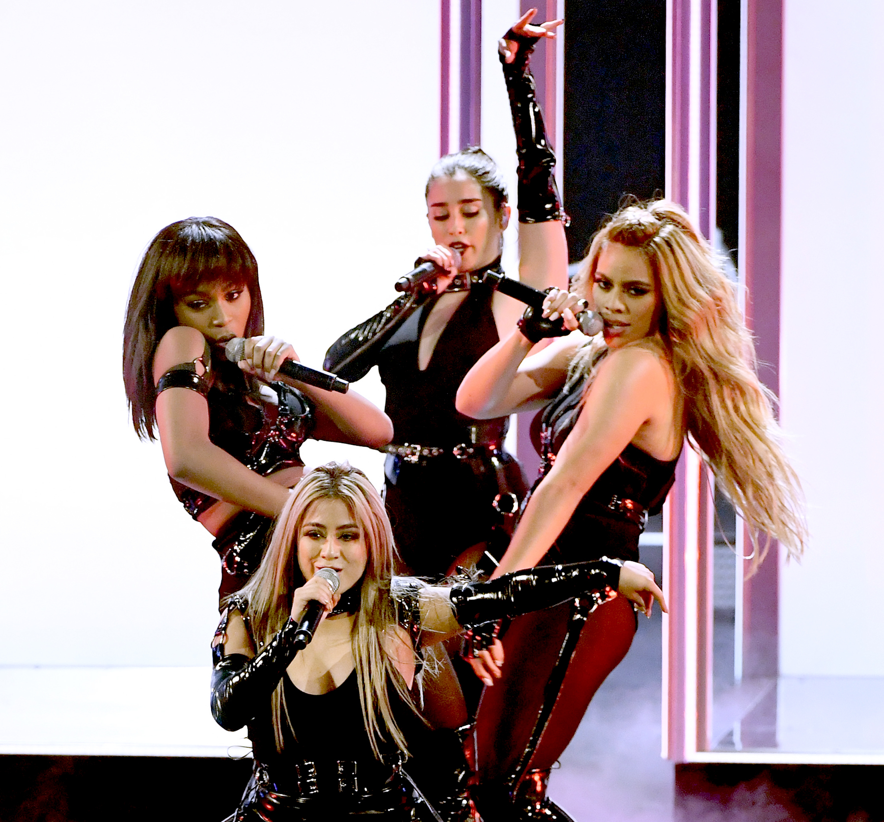 Ally Brooke, Normani Kordei, Dinah Jane, and Lauren Jauregui of Fifth Harmony perform onstage during the People's Choice Awards 2017 at Microsoft Theater on January 18, 2017 in Los Angeles, California.