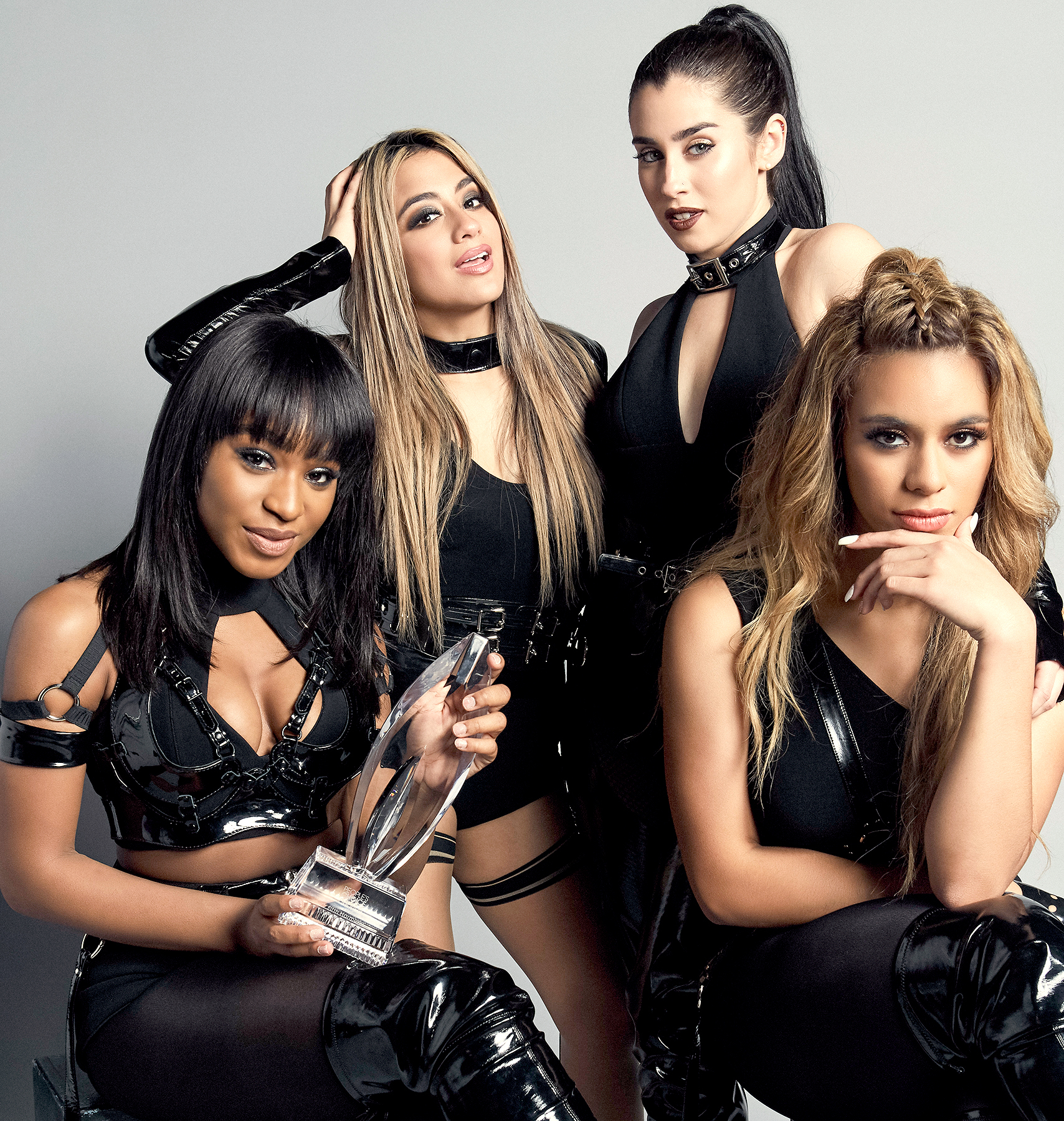 Fifth Harmony, Normani Kordei, Lauren Jauregui, Ally Brooke, and Dinah Jane, pose for a portrait at the 2017 People's Choice Awards at the Microsoft Theater on January 18, 2017 in Los Angeles, California.