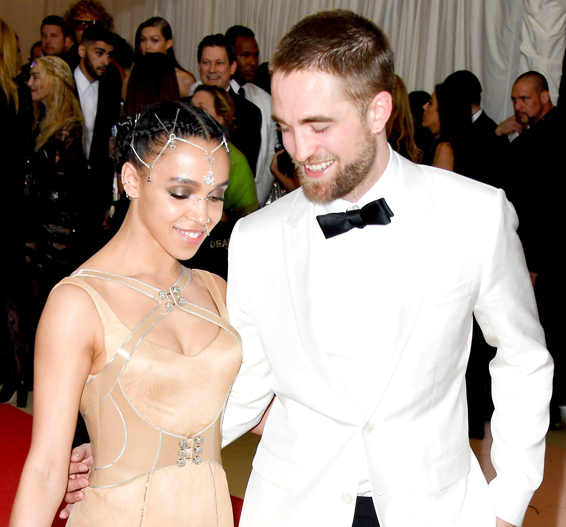 FKA Twigs and Robert Pattinson attend the 'Manus x Machina: Fashion in an Age of Technology' Costume Institute Gala at the Metropolitan Museum of Art on May 2, 2016 in New York City.