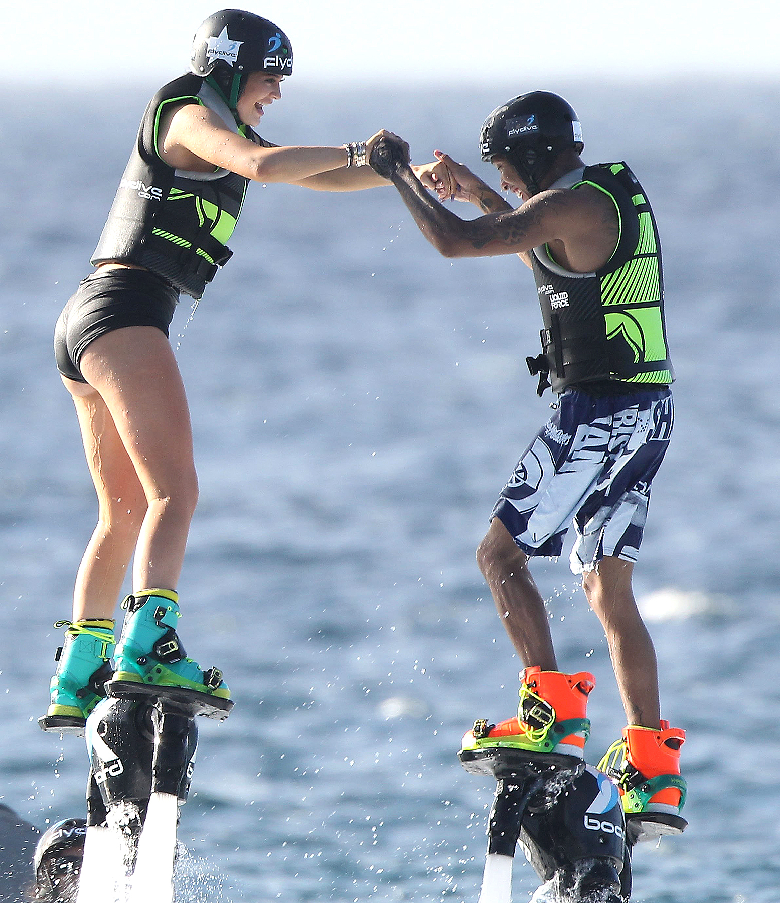 Kylie Jenner and Tyga in St Barts on August 19.