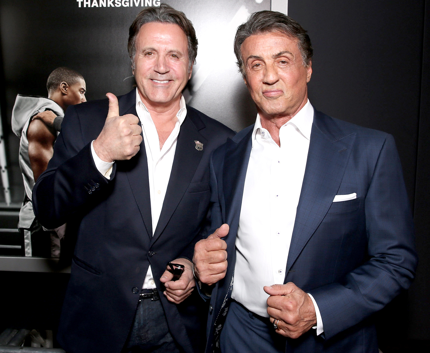 Frank Stallone and Sylvester Stallone attend the premiere of Warner Bros. Pictures'