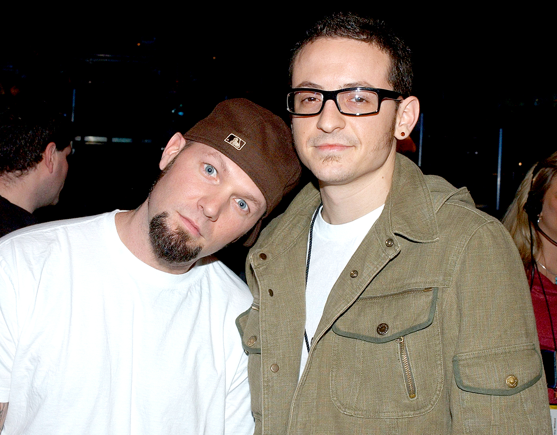 Fred Durst and Chester Bennington in 2003.