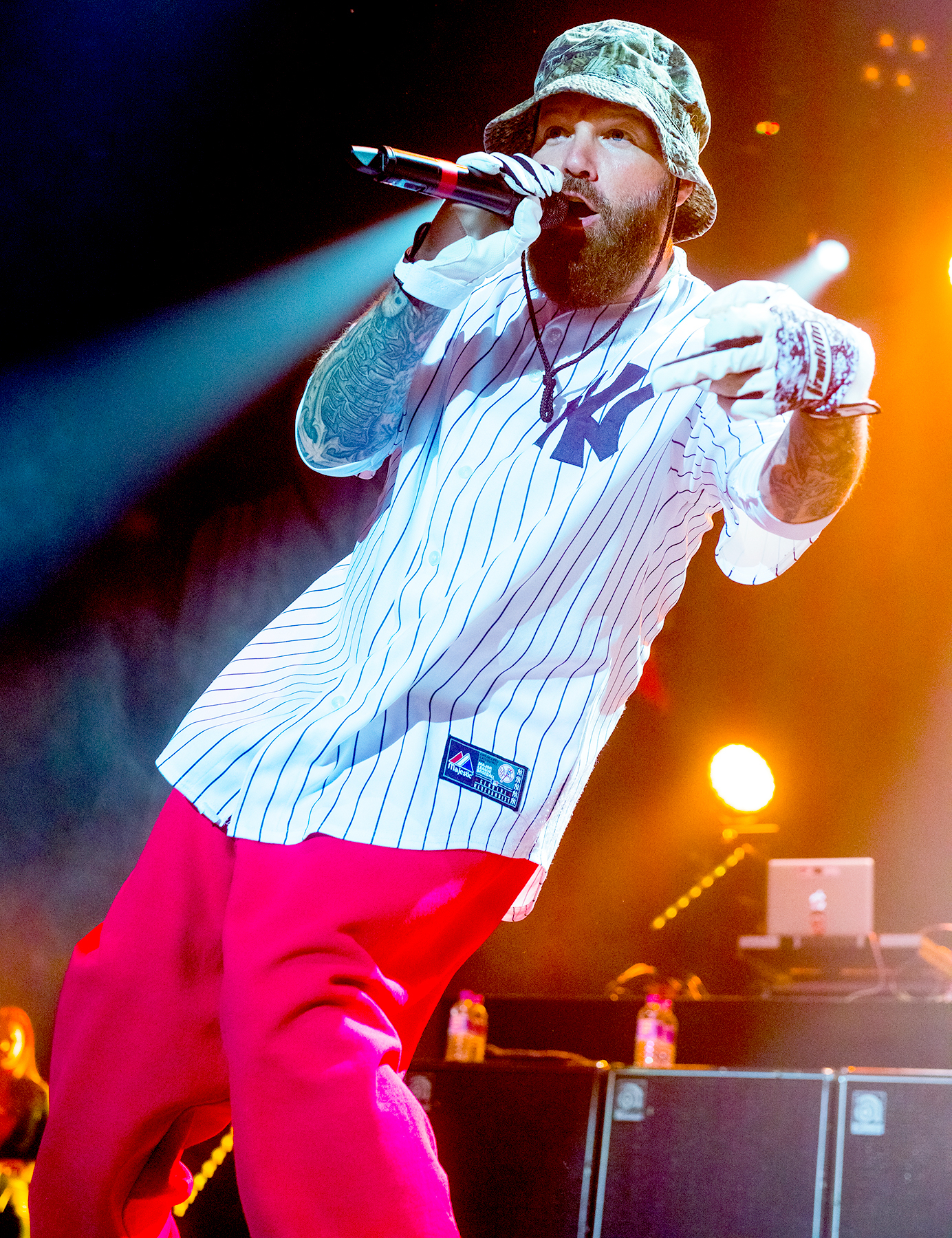 Fred Durst of Limp Bizkit performs on stage at the SSE Arena on December 16, 2016 in London, England.