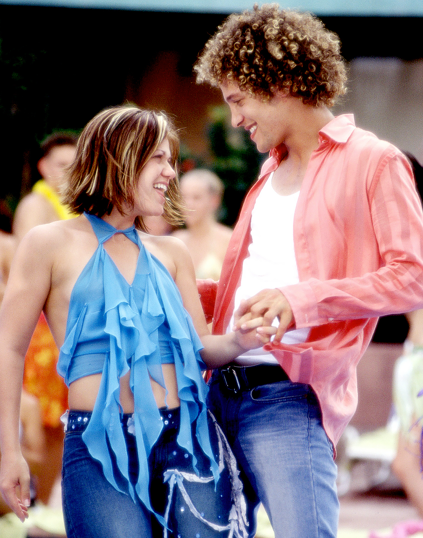 Kelly Clarkson and Justin Guarini in 2003's From Justin to Kelly.