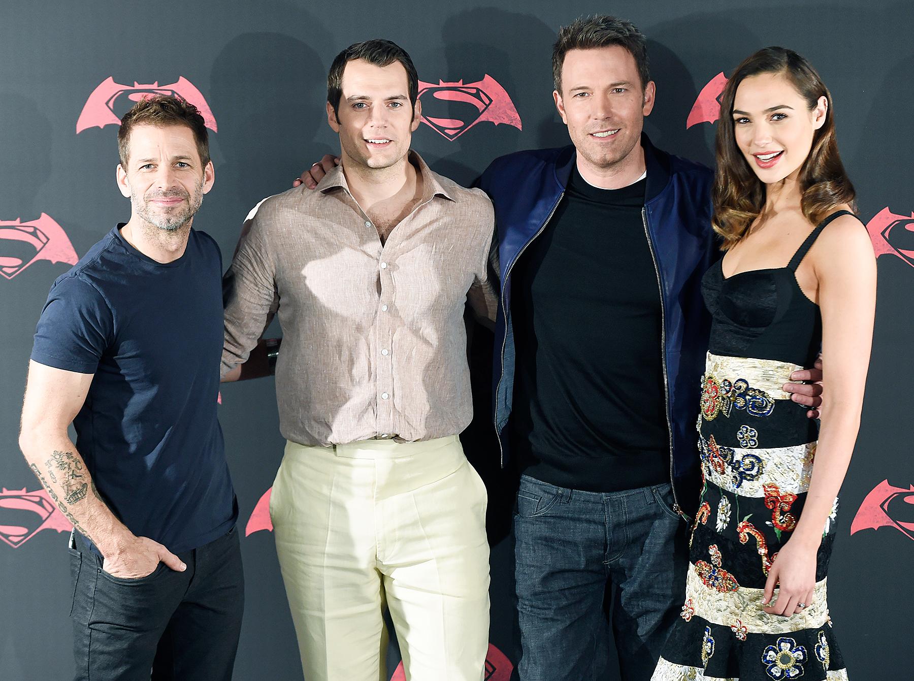 Zack Snyder, Henry Cavill, Ben Affleck and Gal Gadot