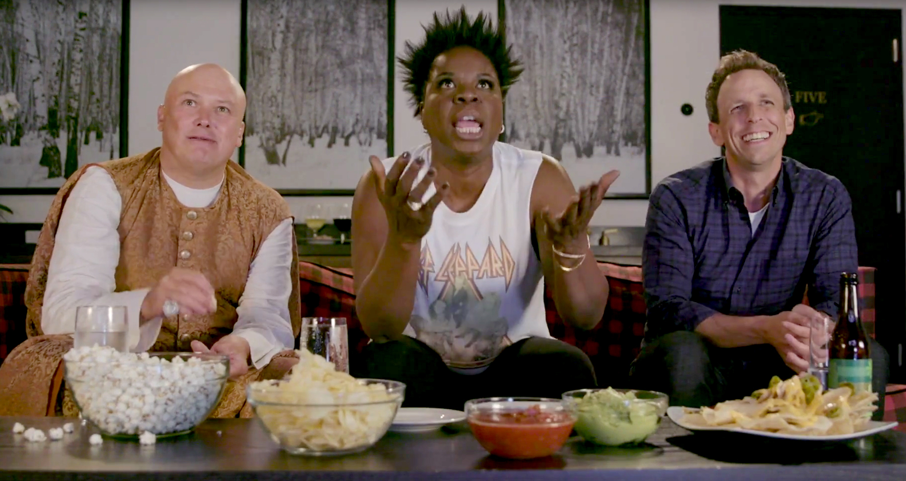 'Game of Thrones' star Conleth Hill, Leslie Jones, and Seth Meyers
