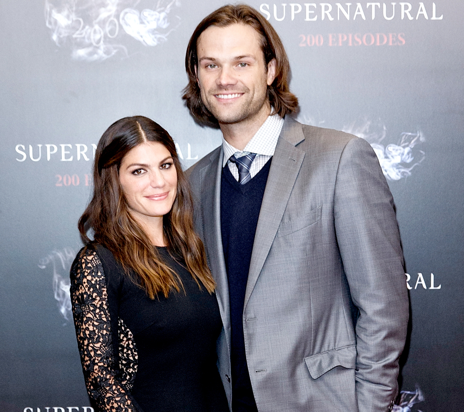 Genevieve Padalecki and Jared Padalecki celebrates the 200th episode of 'Supernatural' at Fairmont Pacific Rim Hotel on October 18, 2014 in Vancouver, Canada.