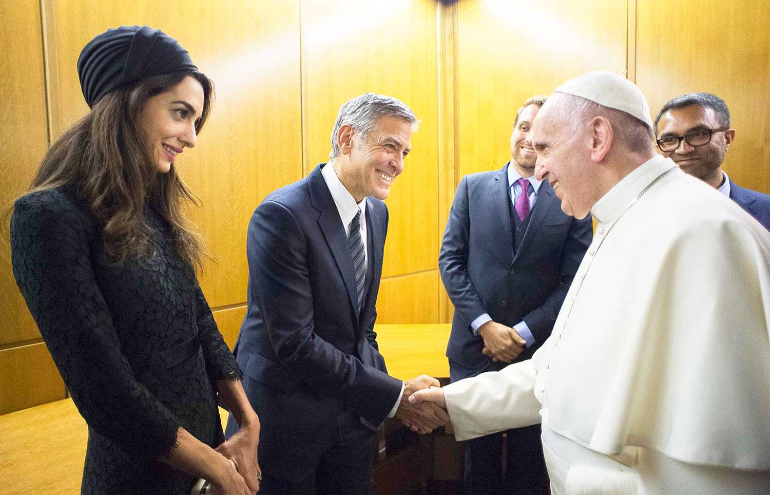 George Clooney, Amal Clooney and the Pope