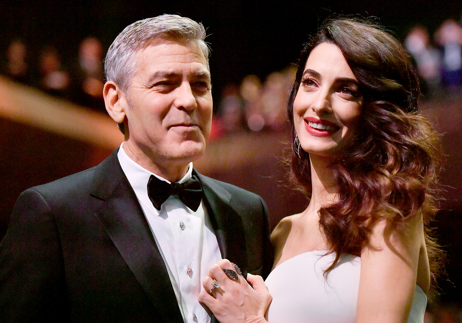 George Clooney and Amal Clooney attend the 42nd Annual Cesar Film Awards Ceremony held at the Salle Pleyel in Paris on February 24, 2017.