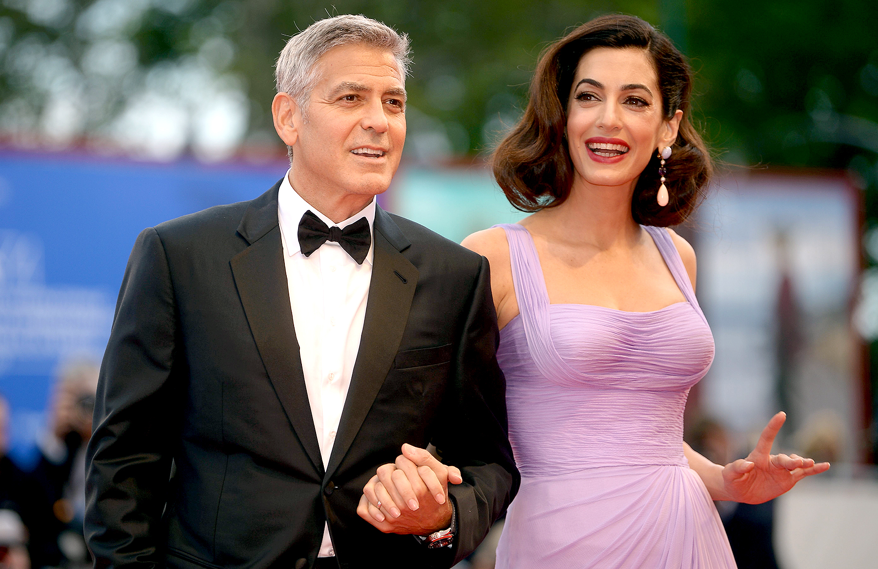 George Clooney and Amal Clooney attend the premiere of 'Suburbicon' at the 74th Venice Film Festival at Venice Lido on September 2, 2017.