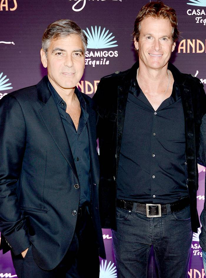 George Clooney and Rande Gerber celebrate the launch of Casamigos at Andrea's at Encore Las Vegas on January 9, 2013 in Las Vegas, Nevada.