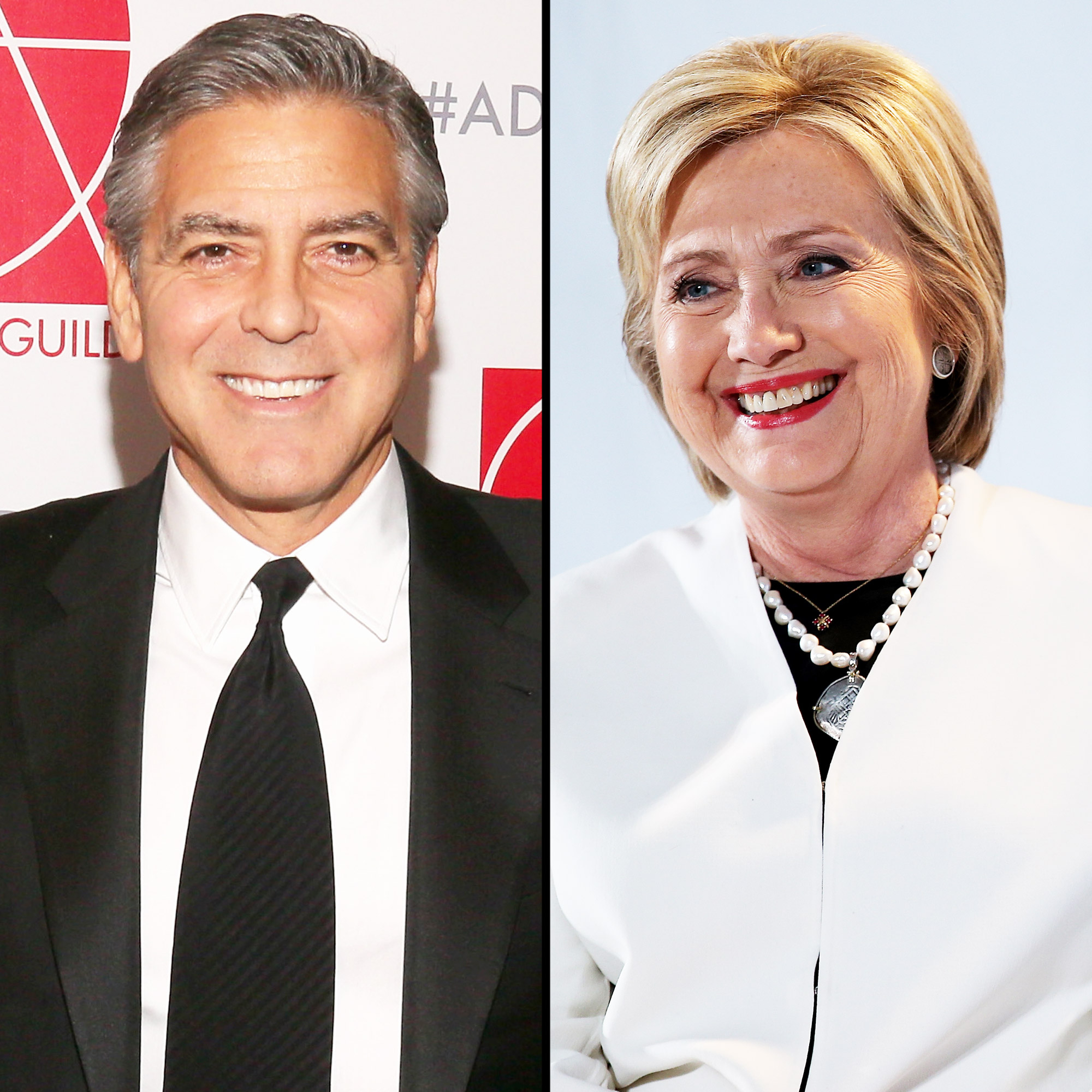 George Clooney and Hillary Clinton