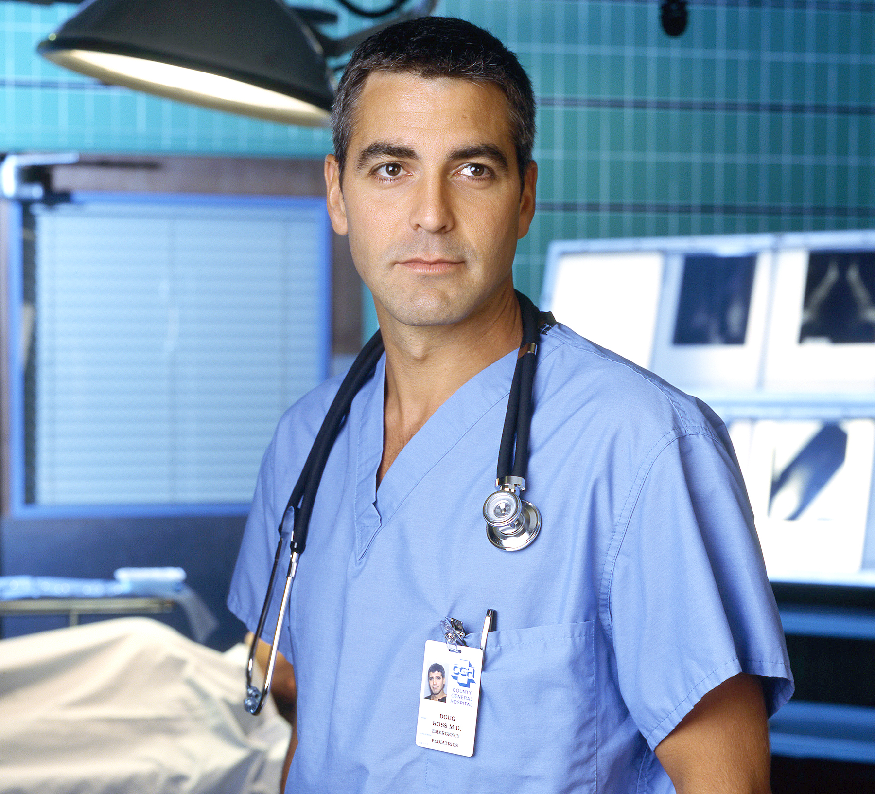 George Clooney as Dr. Doug Ross on ER.