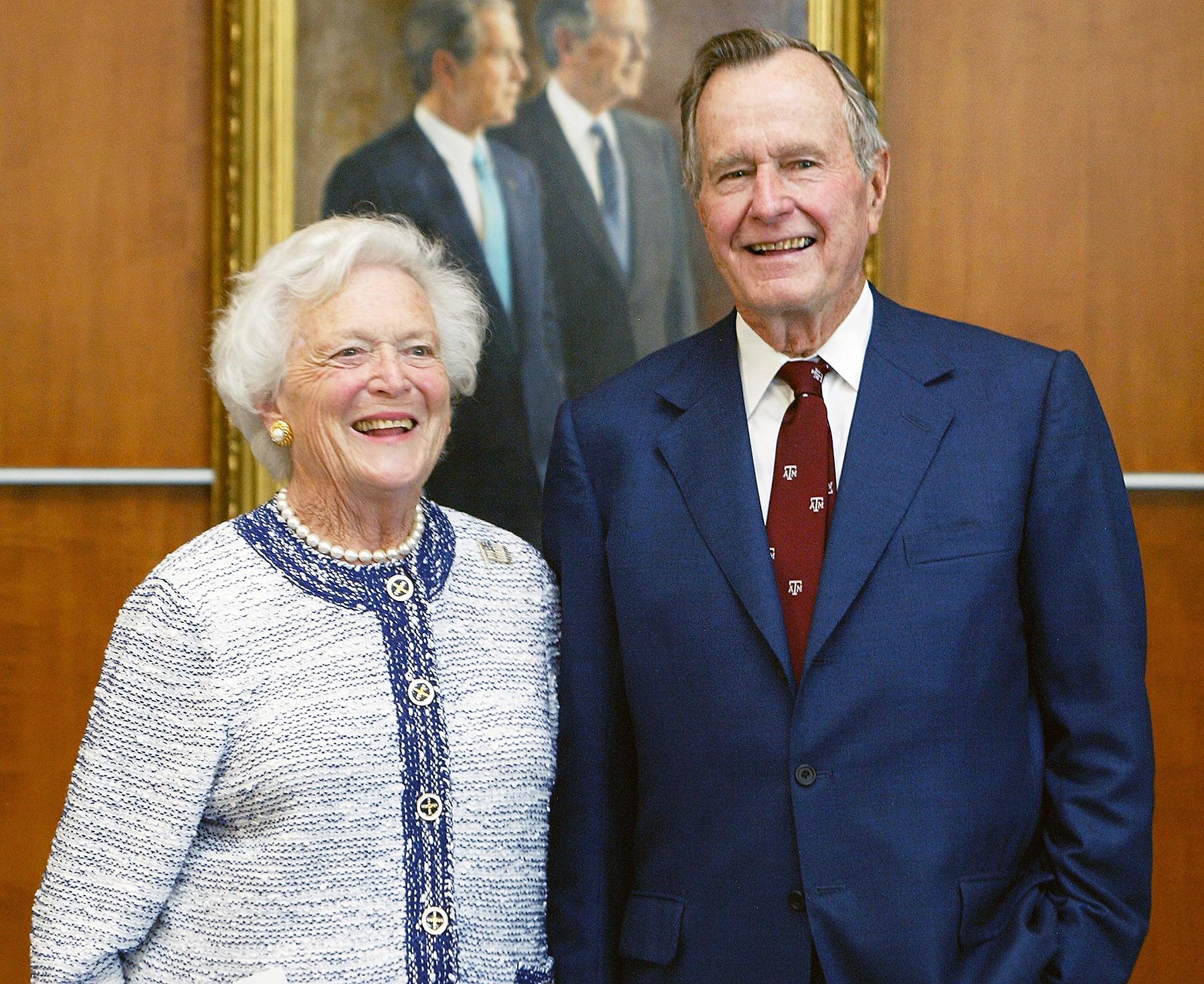 George H W Bush Barbara Bush Hospitalized In Houston