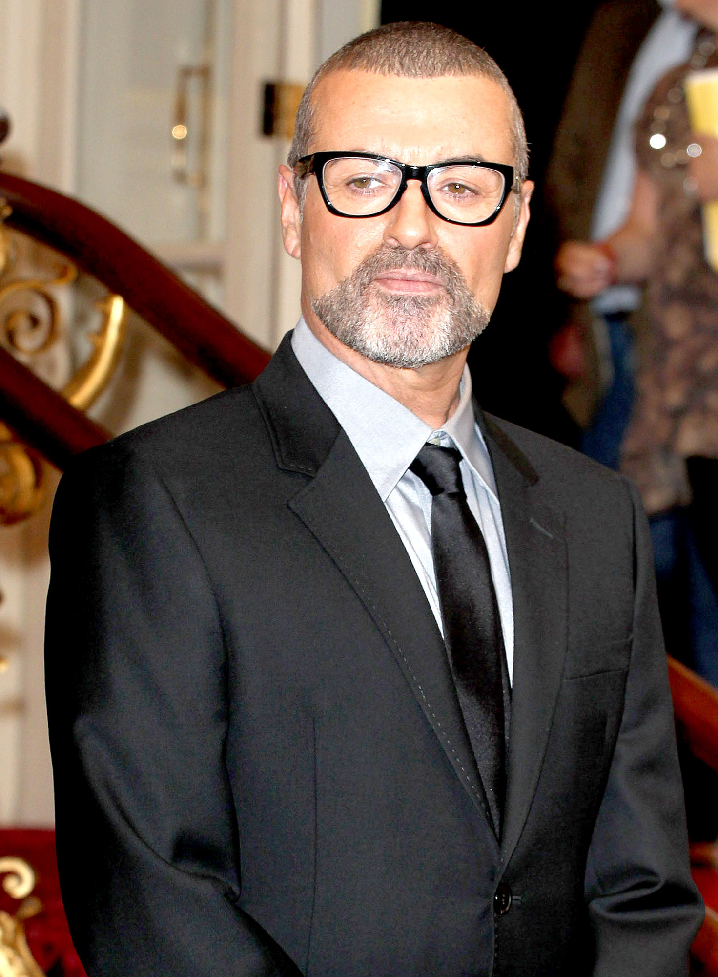 George Michael attends a press conference to announce his new European tour, Symphonica: The Orchestral Tour at The Royal Opera House on May 11, 2011 in London, England.