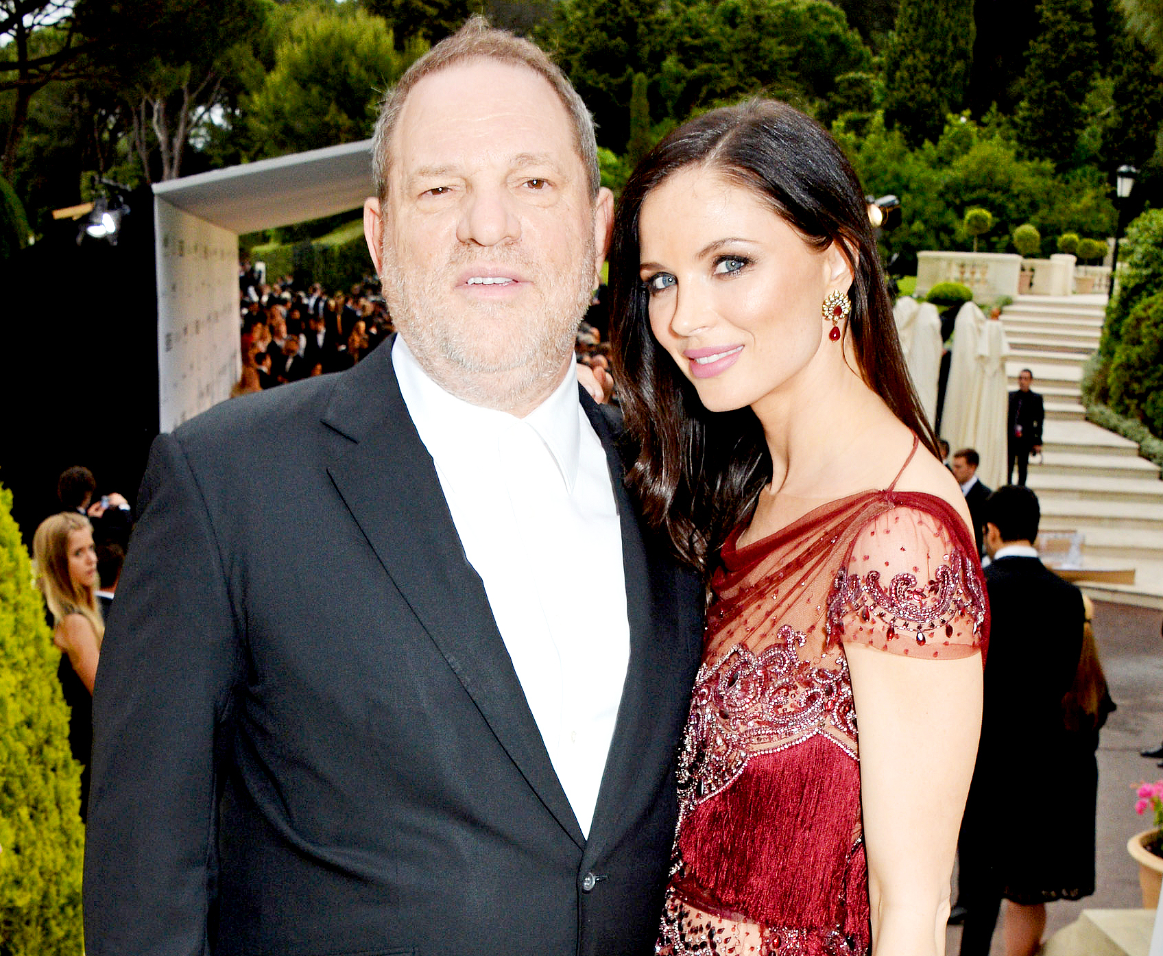 Harvey Weinstein and Georgina Chapman attend amfAR's 21st Cinema Against AIDS Gala presented by WORLDVIEW, BOLD FILMS, and BVLGARI at Hotel du Cap-Eden-Roc on May 22, 2014 in Cap d'Antibes, France.