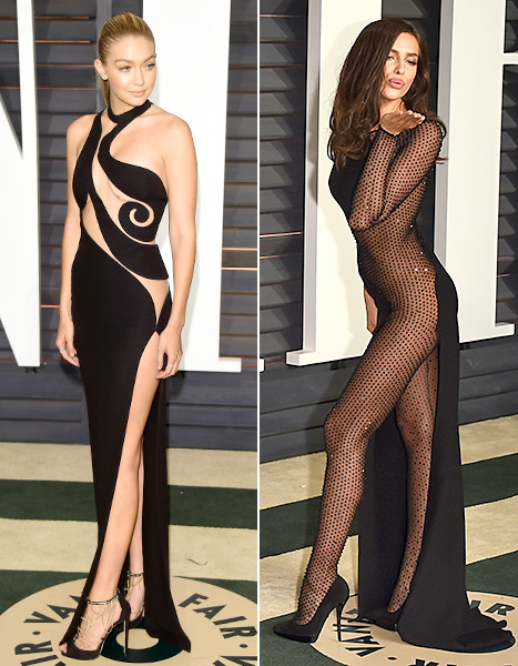 Gigi Hadid and Irina Shayk - Vanity Fair Oscar Party