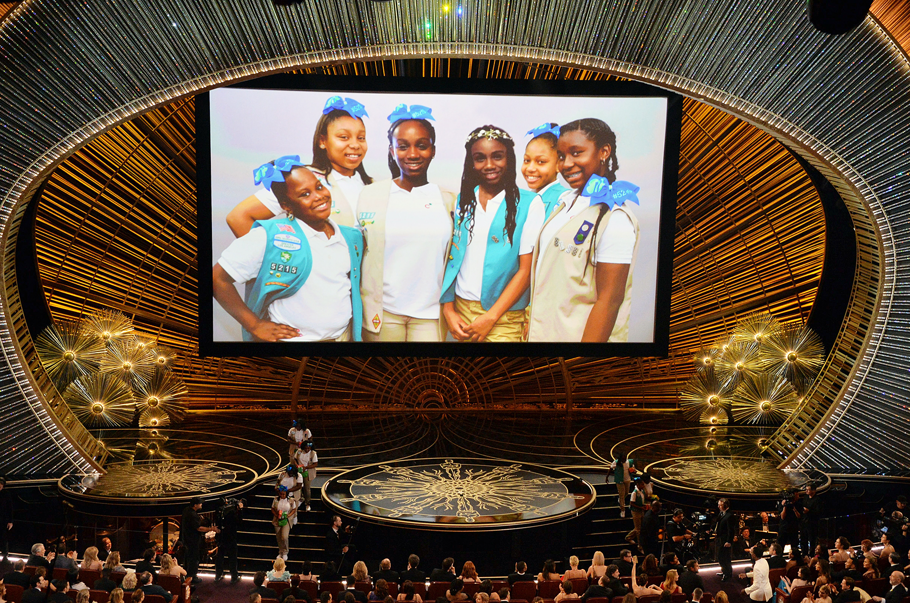 Girl Scouts at Oscars 2016