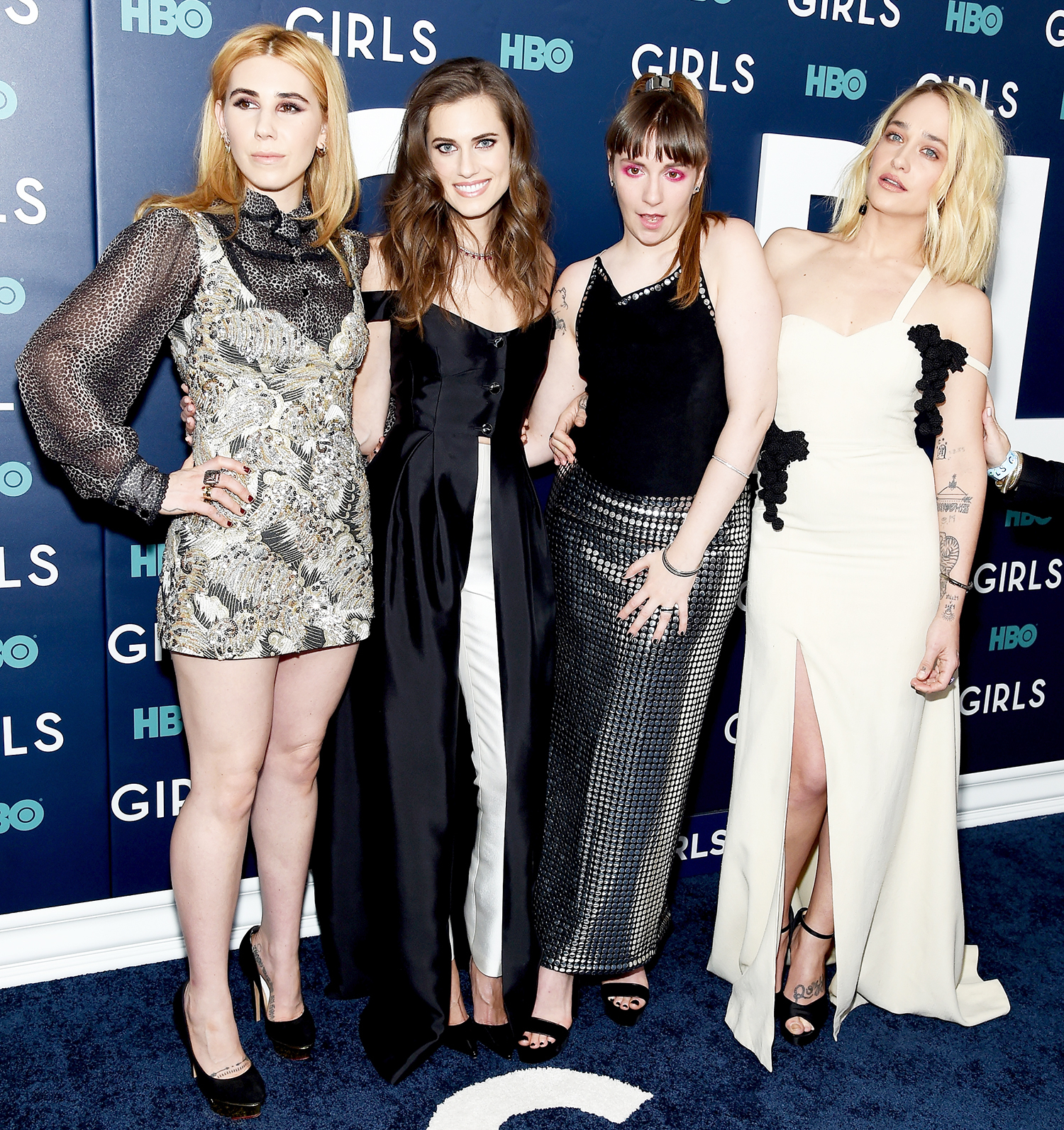 Zosia Mamet, Allison Williams, Lena Dunham and Jemima Kirke attend The New York Premiere Of The Sixth & Final Season Of