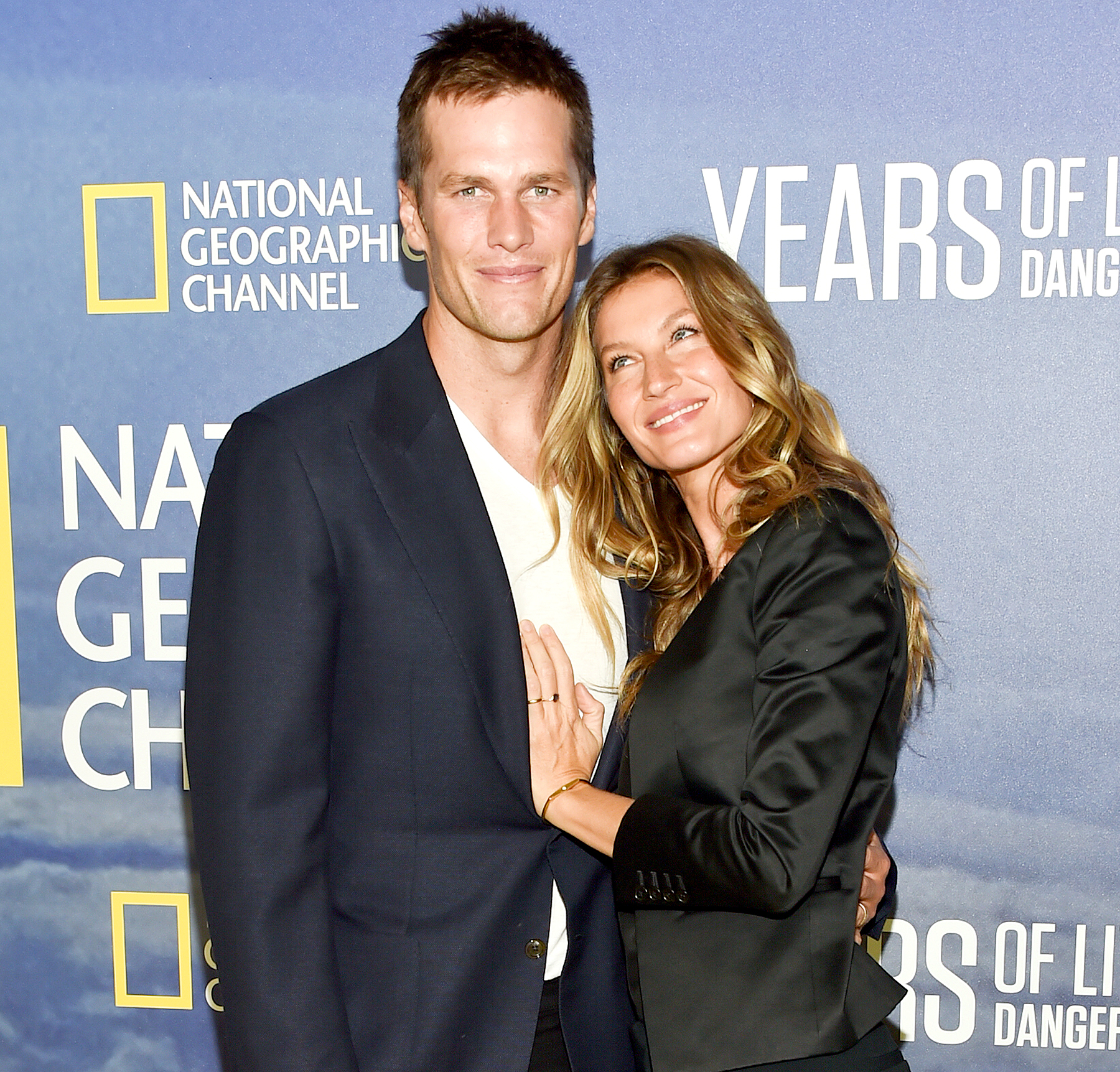 Gisele Bundchen and Tom Brady attend the premiere of National Geographic Channel's,