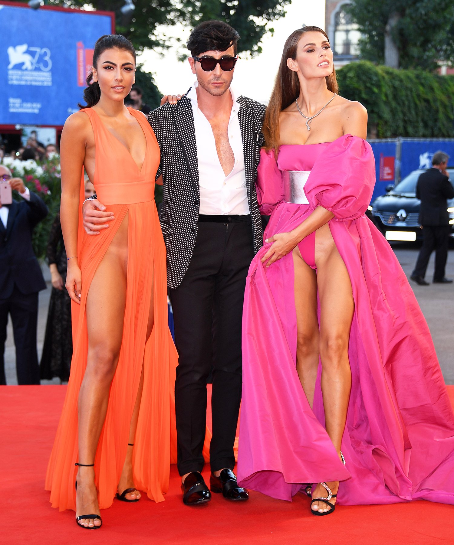 Dayane Mello, Matteo Manzini and Giulia Salemi attend the premiere of 'The Young Pope' during the 73rd Venice Film Festival at Palazzo del Casino on September 3, 2016 in Venice, Italy.