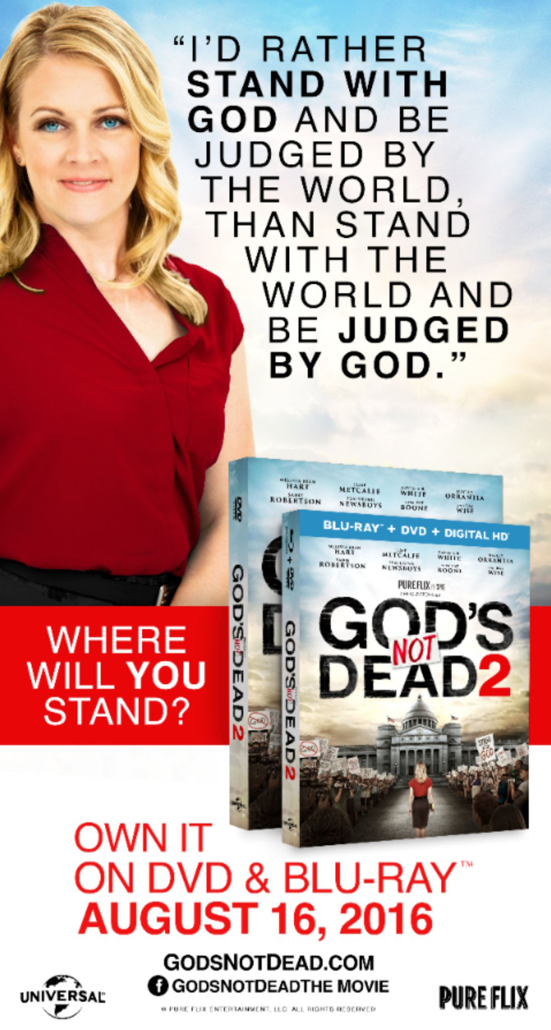 Why This 'God's Not Dead 2' Billboard (With Melissa Joan Hart) Was Nixed From the Republican National Convention