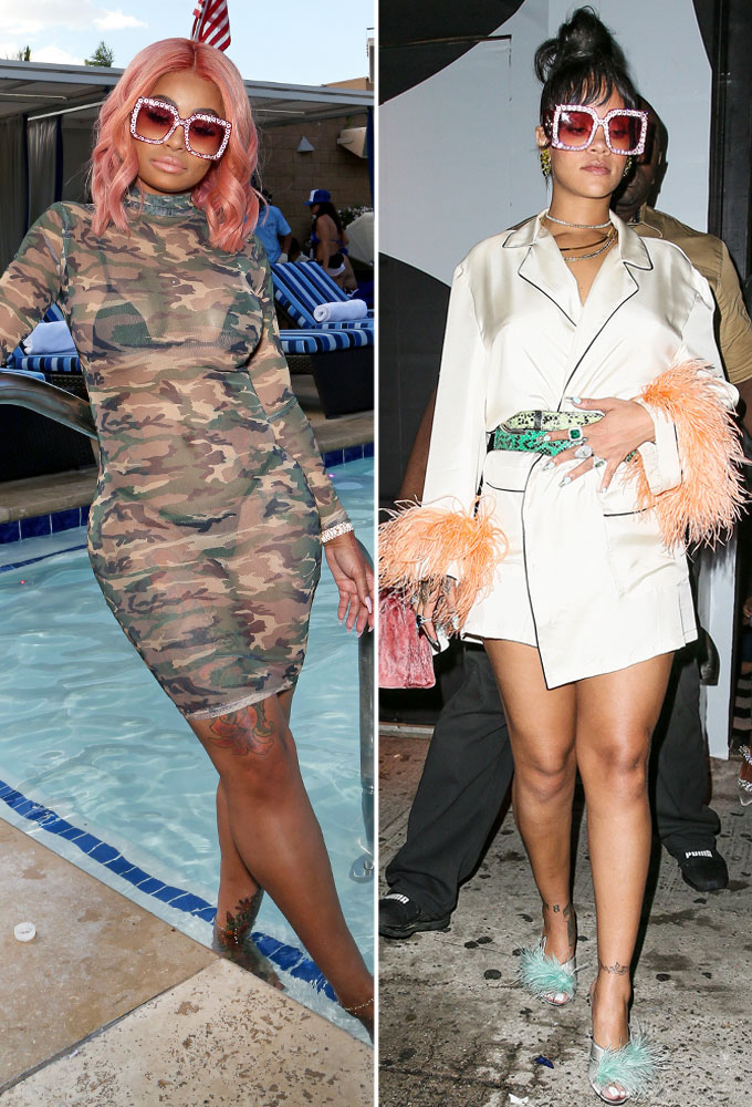 3b04d9e675 Blac Chyna and Rihanna Wore the Same Pink Gucci Sunglasses  Who Wore It  Best