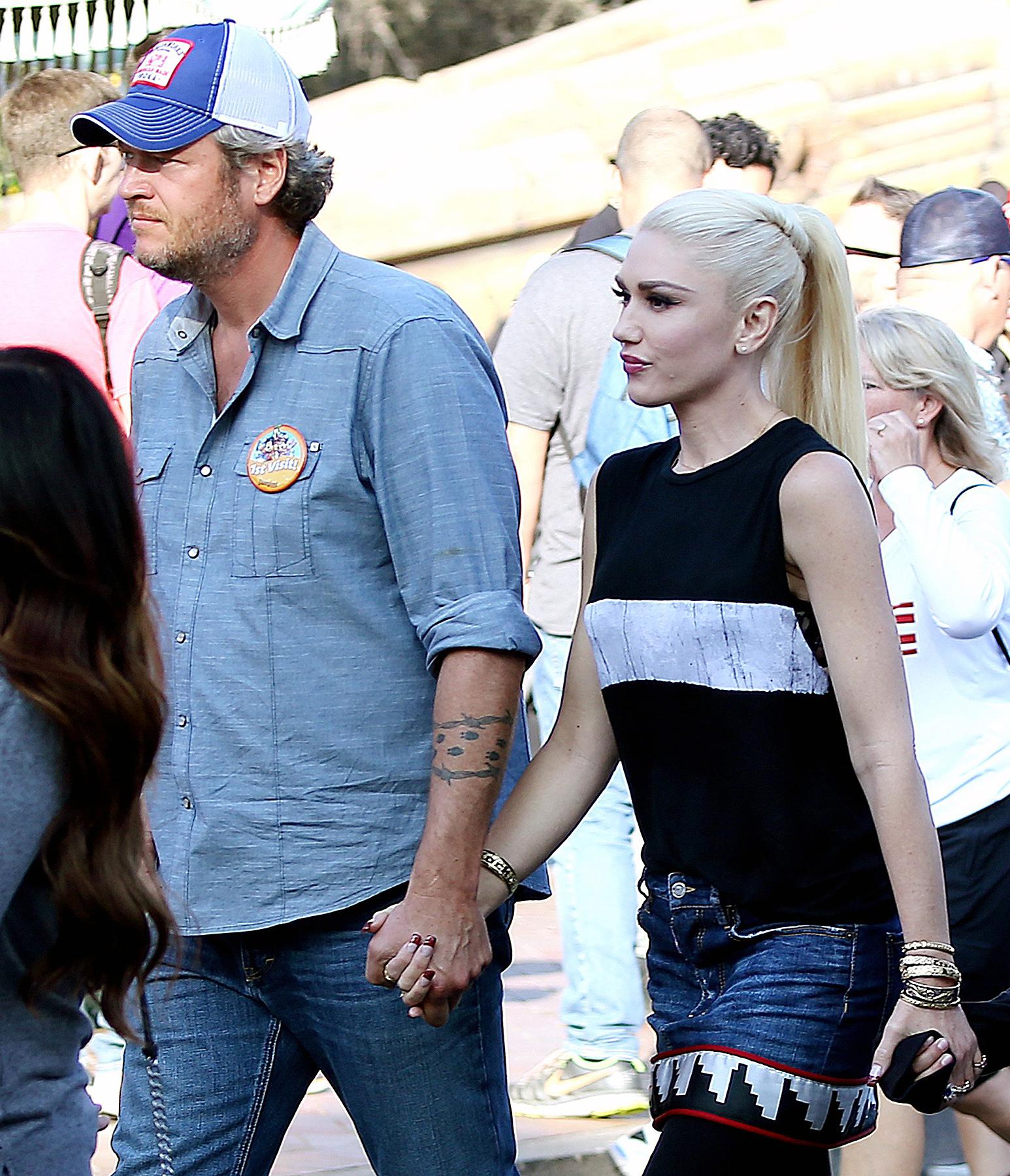 Gwen Stefani Takes Blake Shelton To Disneyland And Her