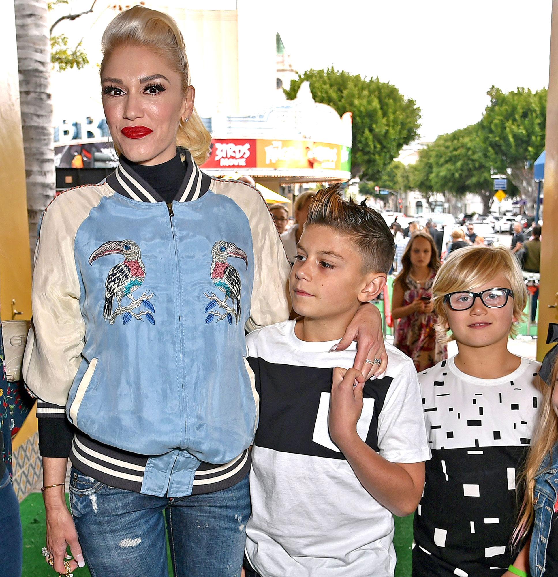 Gwen Stefani with sons kids Kingston Rossdale & Zuma Rossdale