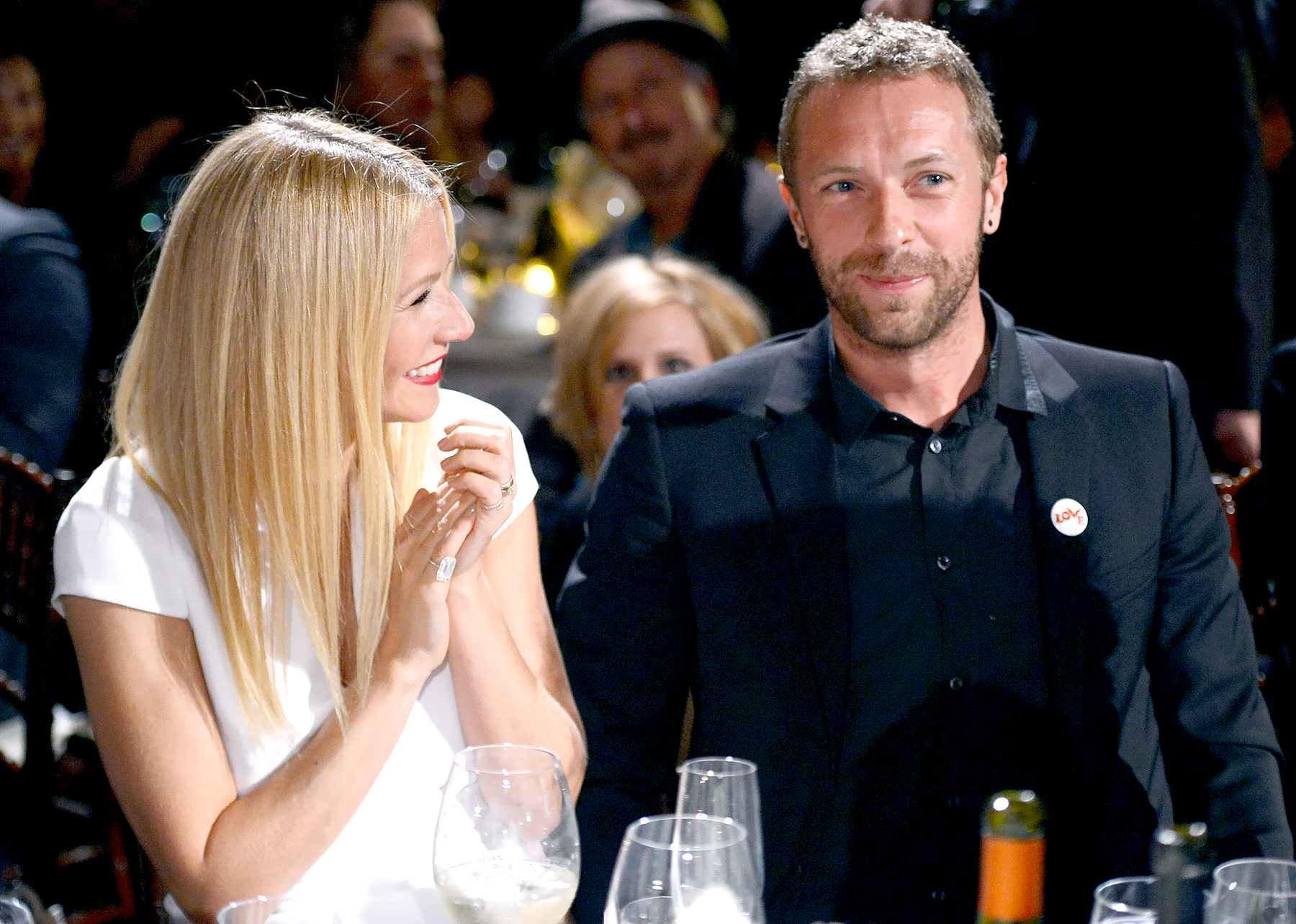 Gwyneth Paltrow and Chris Martin attend the 3rd annual Sean Penn & Friends HELP HAITI HOME Gala benefiting J/P HRO presented by Giorgio Armani at Montage Beverly Hills on January 11, 2014 in Beverly Hills, California.
